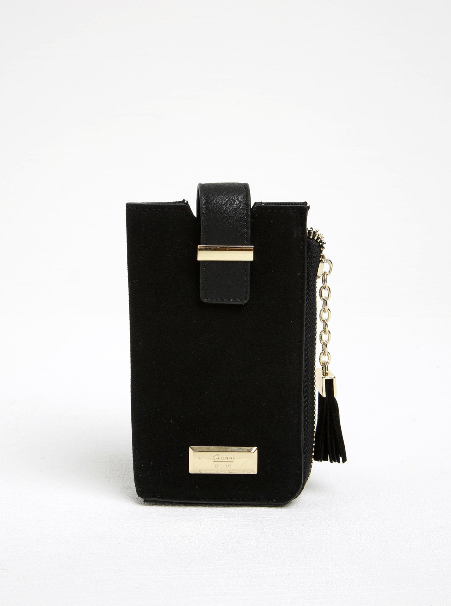 Černé pouzdro na smarthpone s kapsou na karty Gionni Viollette