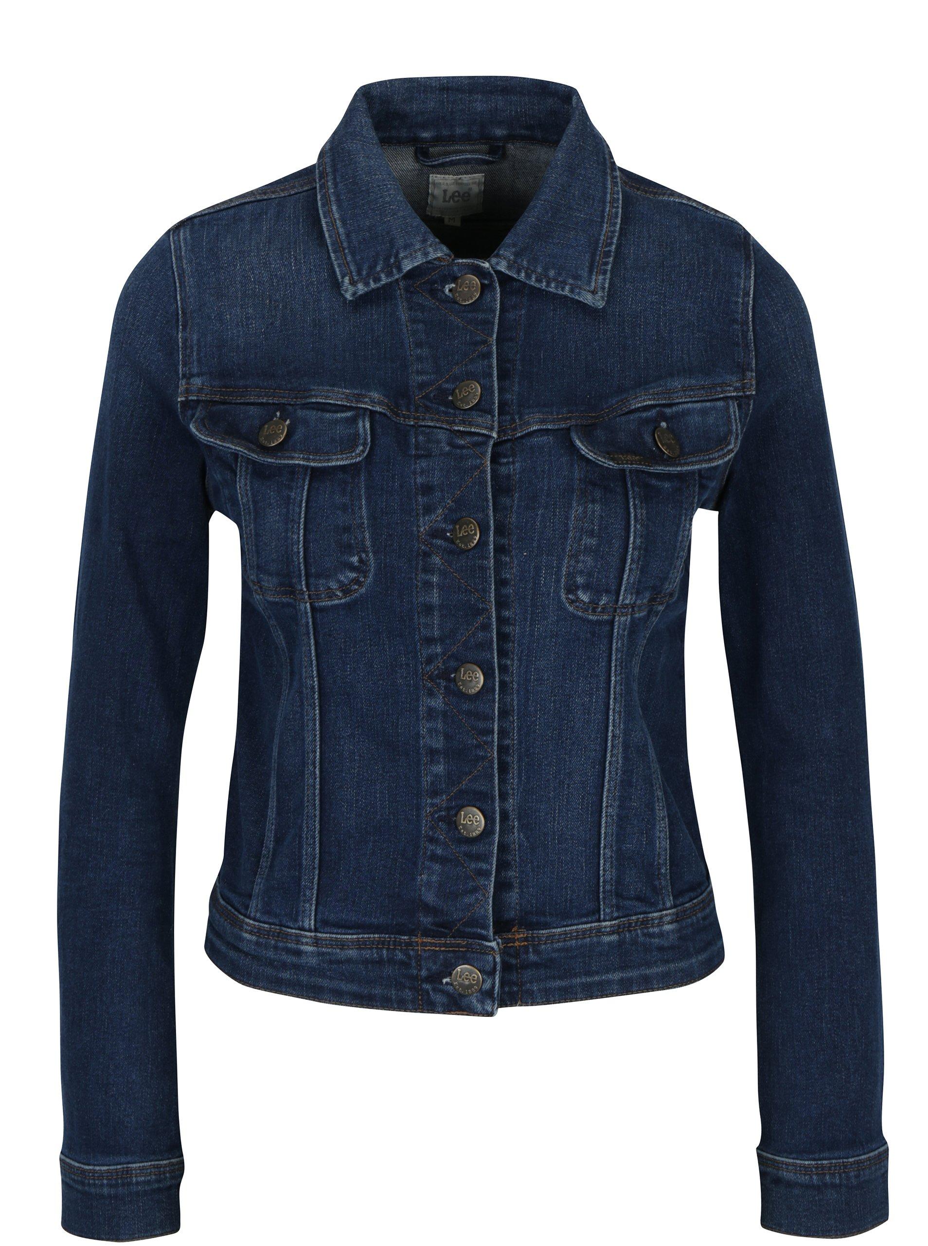 Tmavě modrá dámská džínová bunda Lee Slim Rider