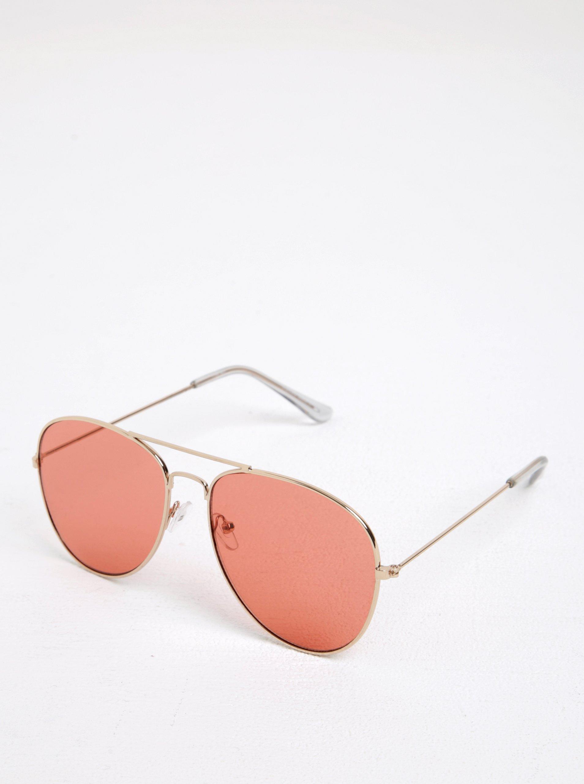 Růžové sluneční brýle Pieces Nea
