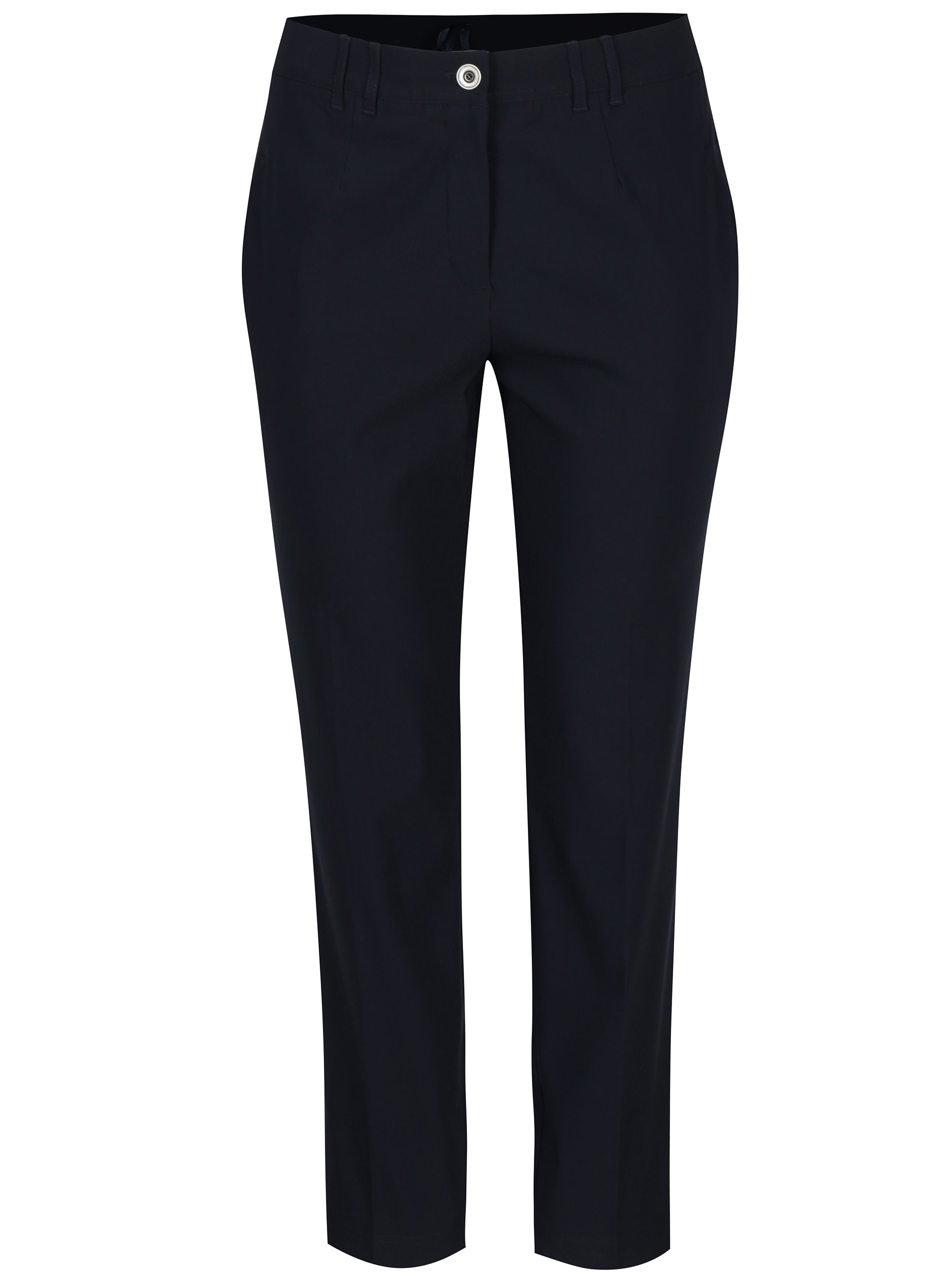 Tmavě modré slim fit kalhoty Ulla Popken