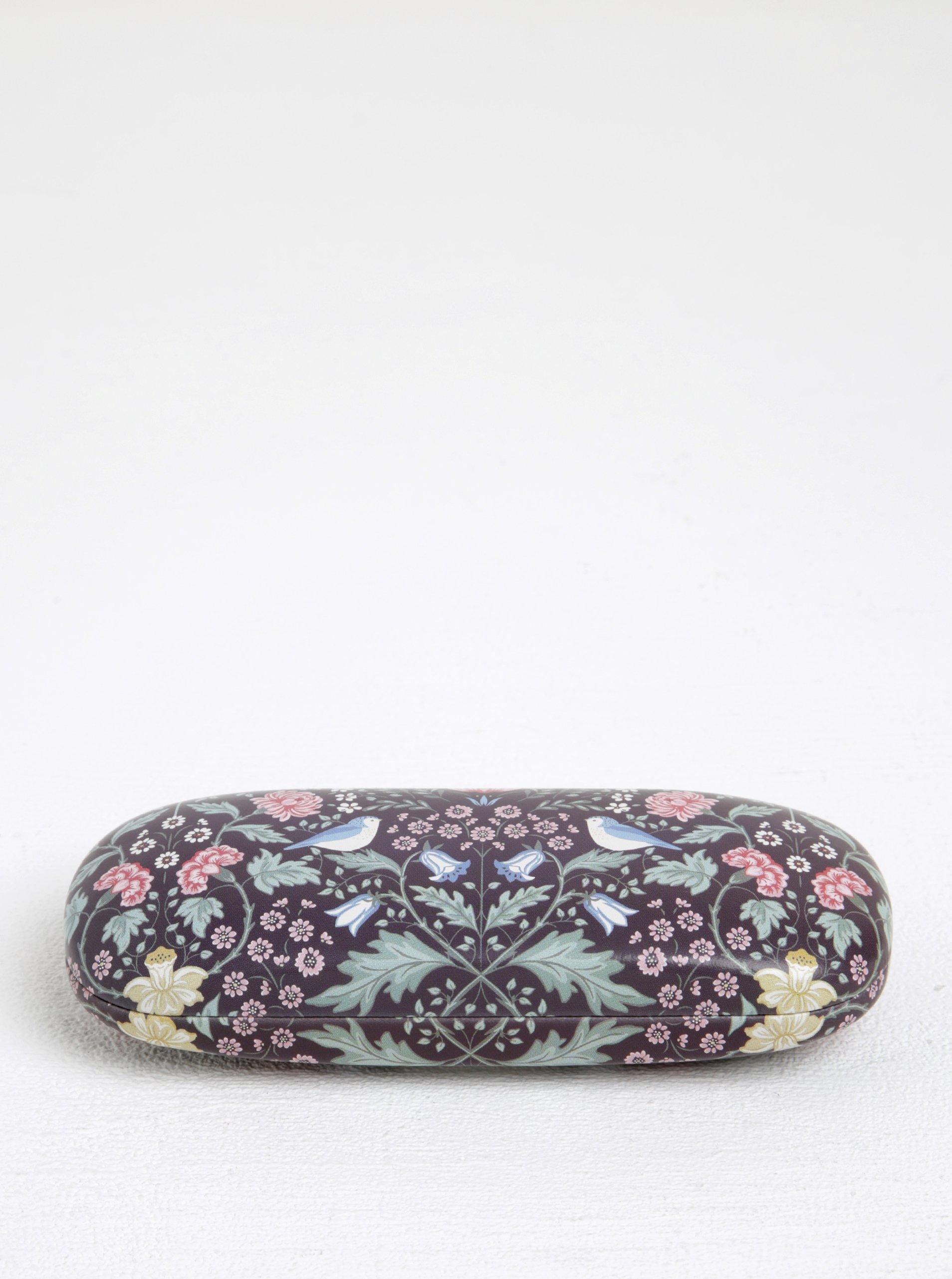 Tmavě fialové květované pouzdro na brýle Sass & Belle Midnight Garden