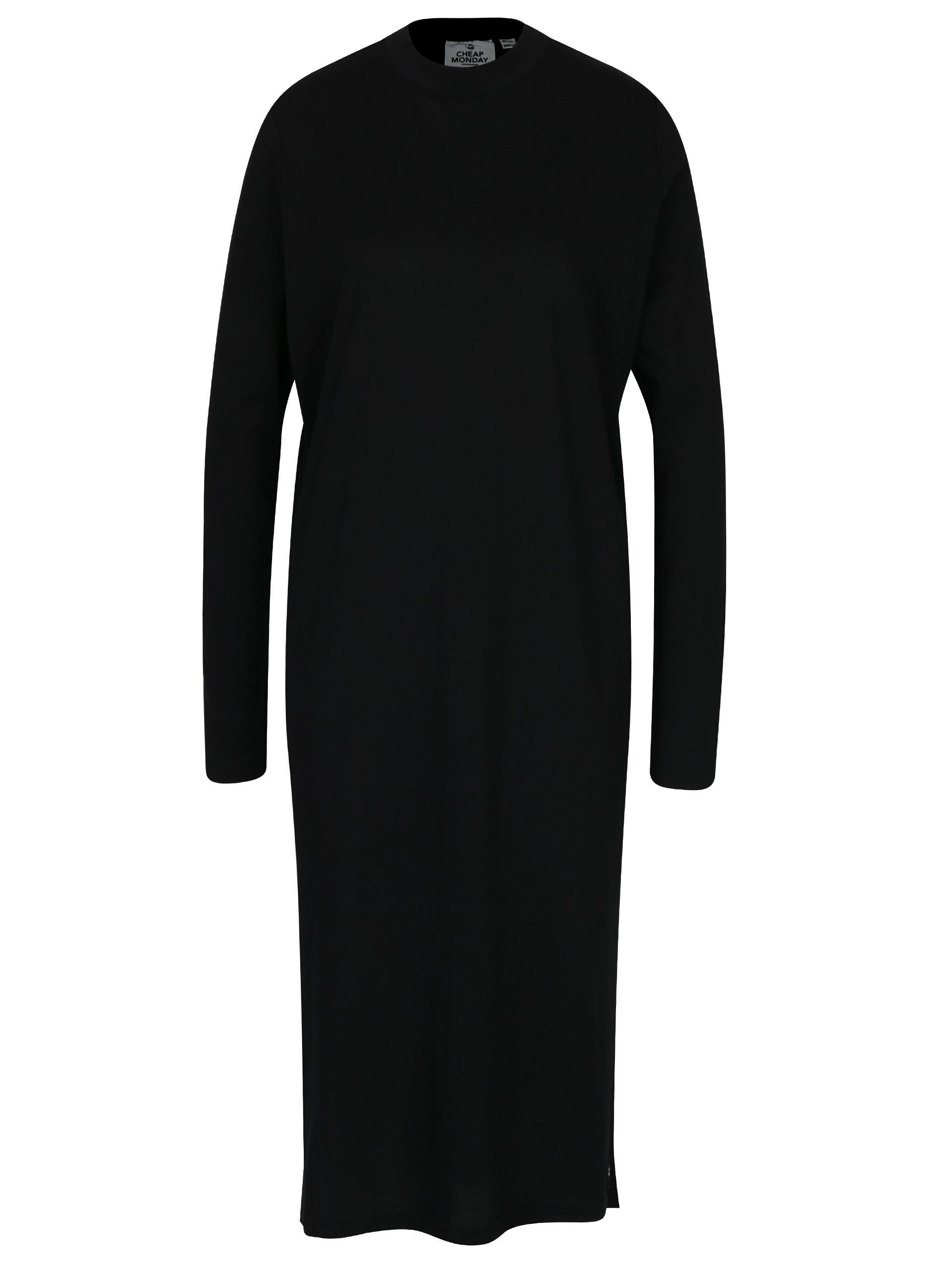 Černé volné šaty s dlouhým rukávem Cheap Monday