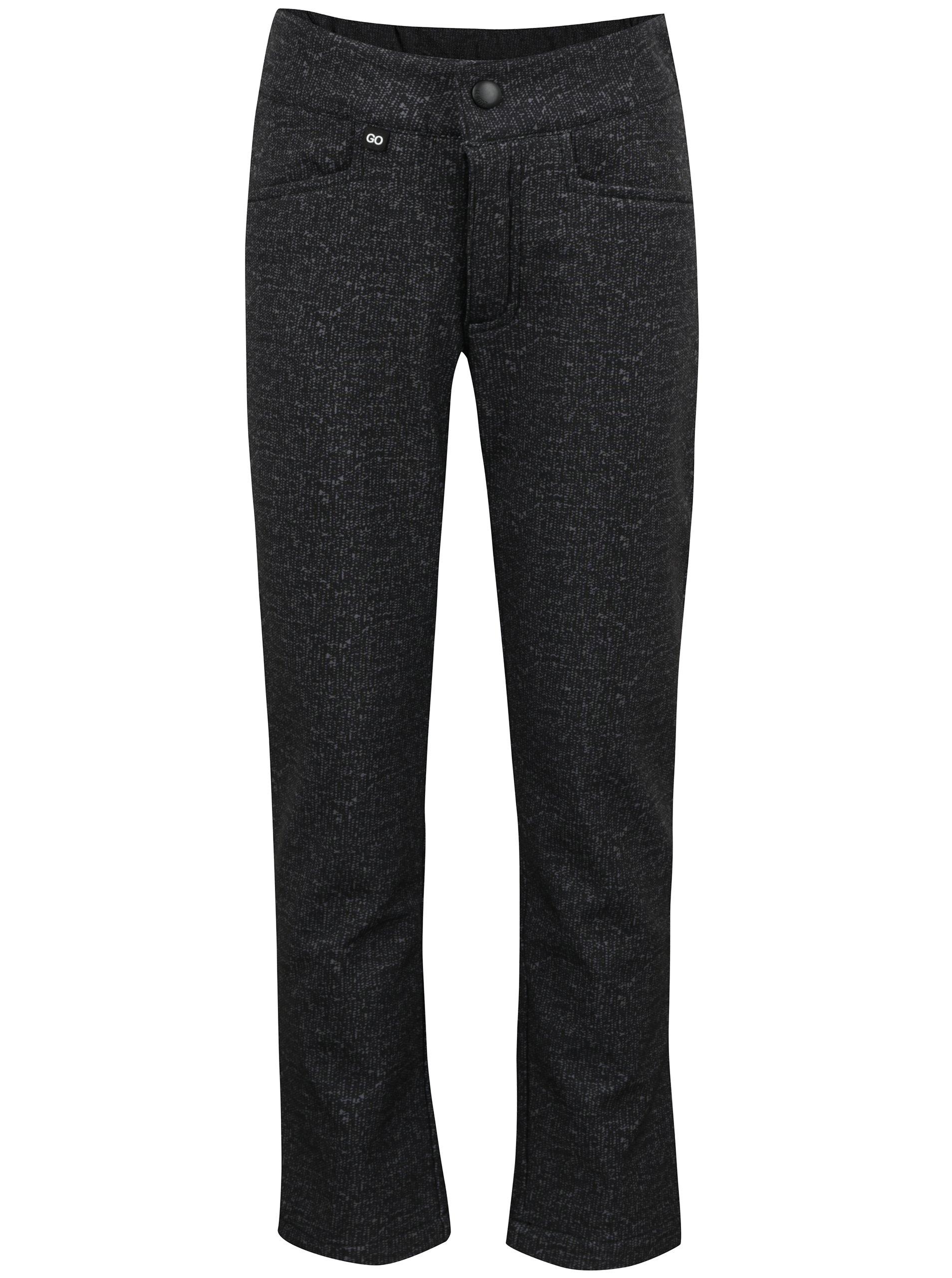 Tmavě šedé holčičí nepromokavé funkční kalhoty Reima Idea