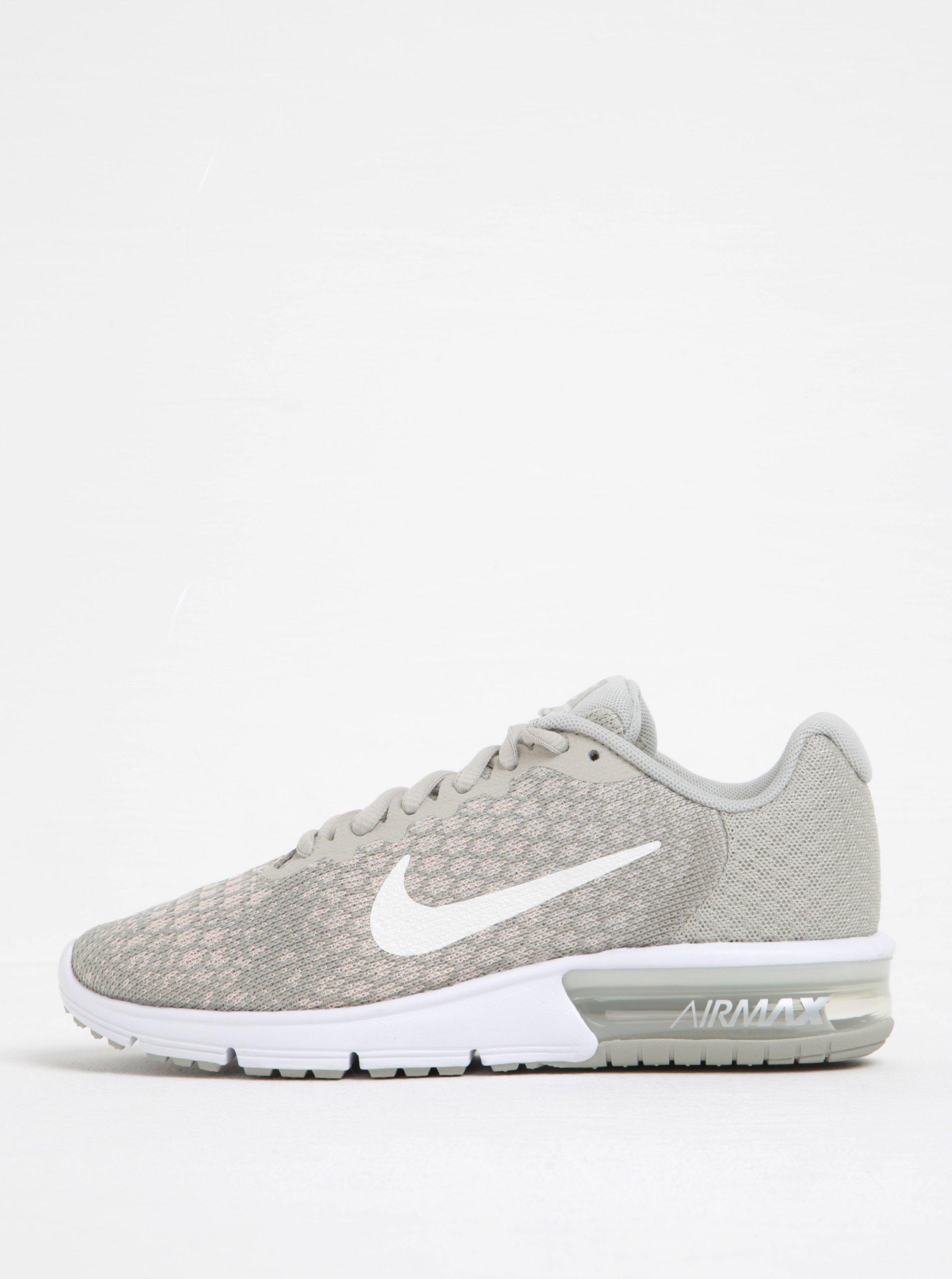 Světle šedé dámské žíhané tenisky Nike Air Max Sequent