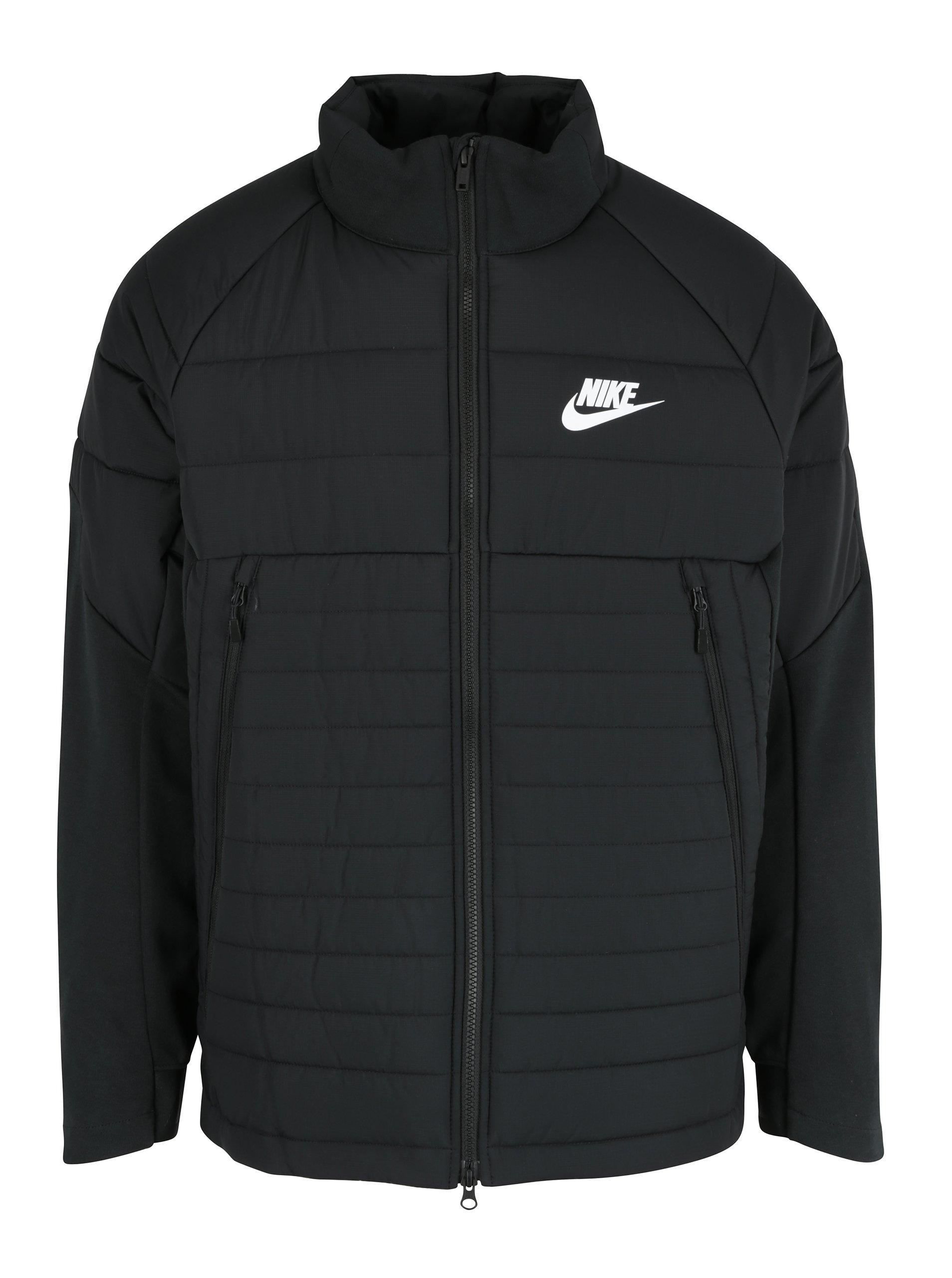 Černá pánská prošívaná bunda Nike Sportswear Fill