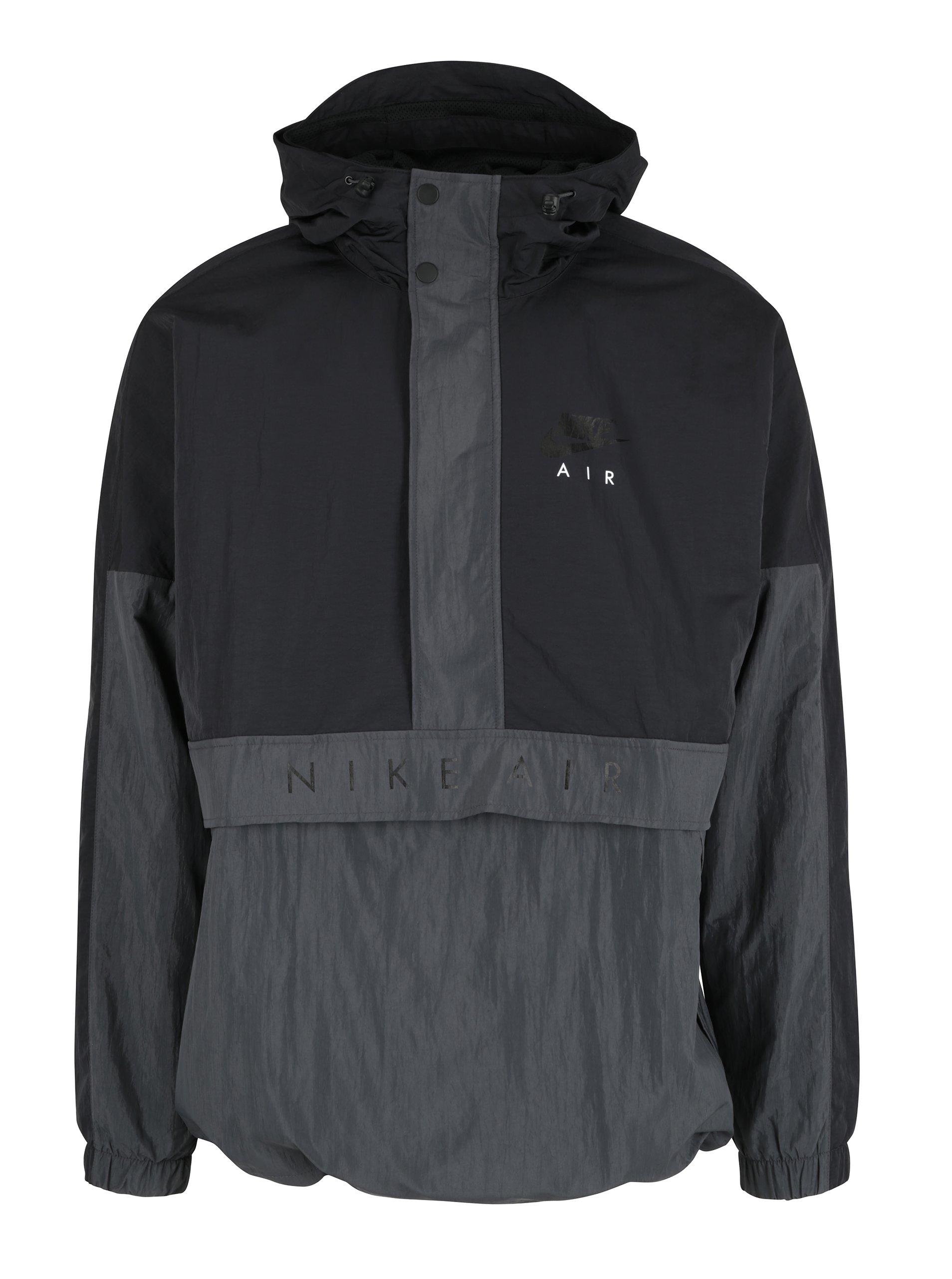 Černá pánská bunda s kapucí Nike Sportswear Air