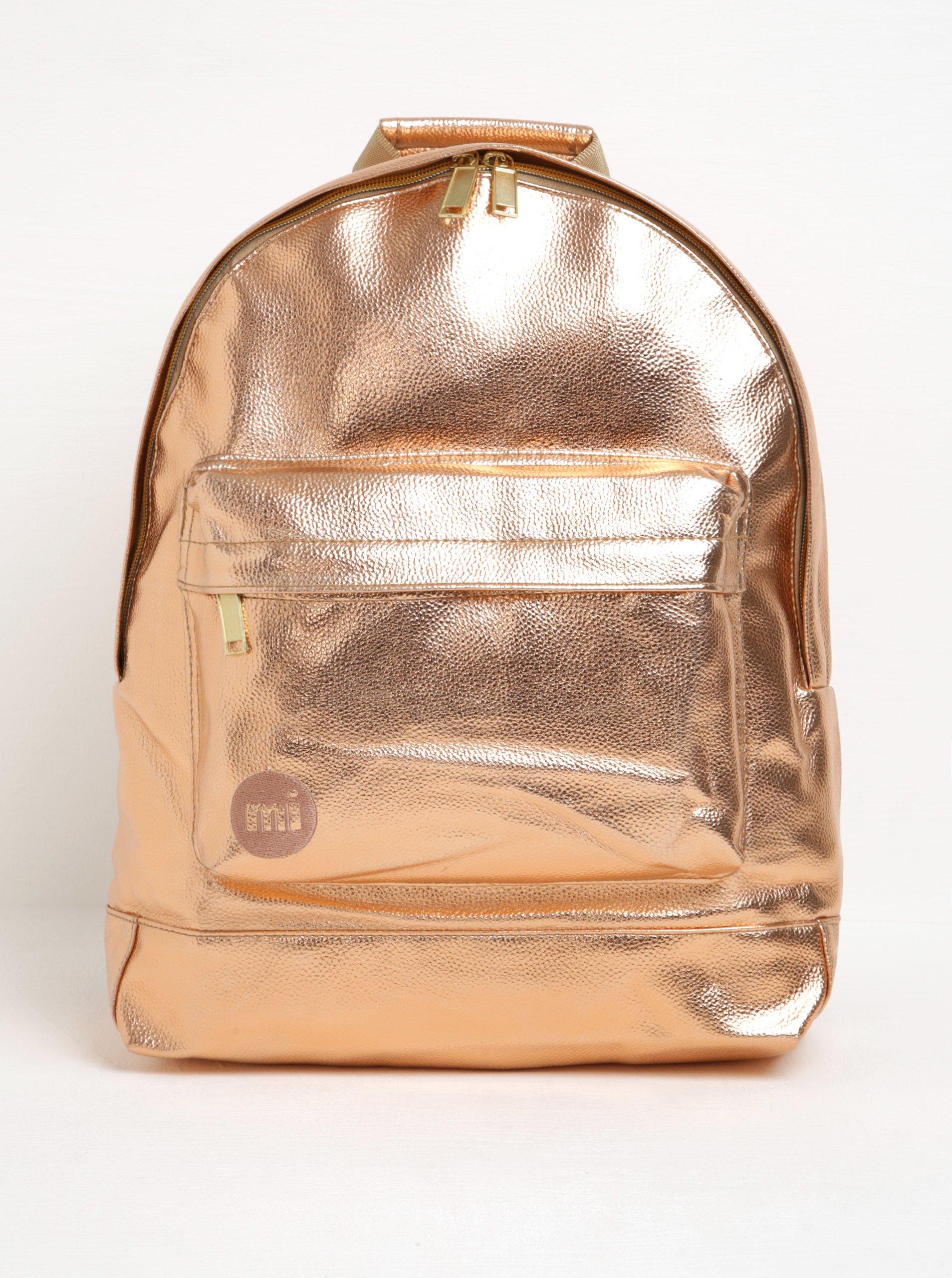 Dámský batoh v růžovozlaté barvě Mi-Pac Metallic 17 l