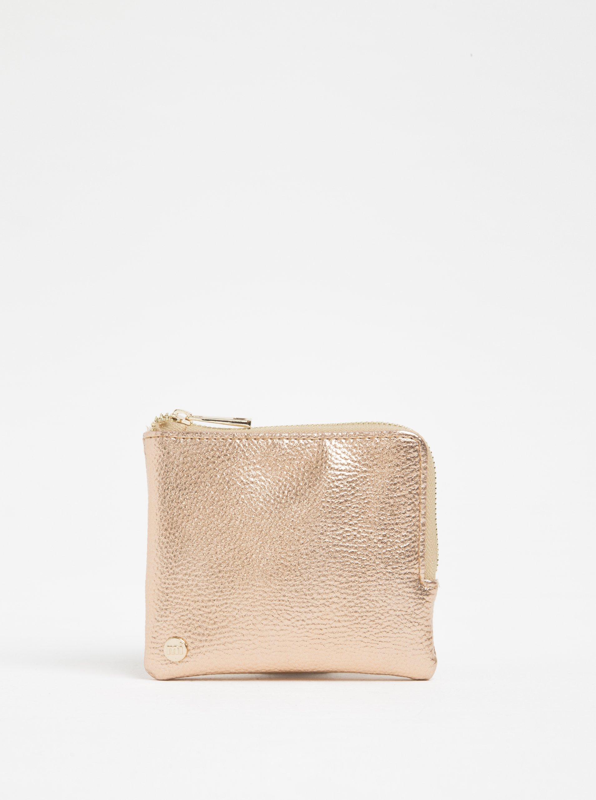 Lesklá dámská peněženka na mince v růžovozlaté barvě Mi-Pac Coin Holder