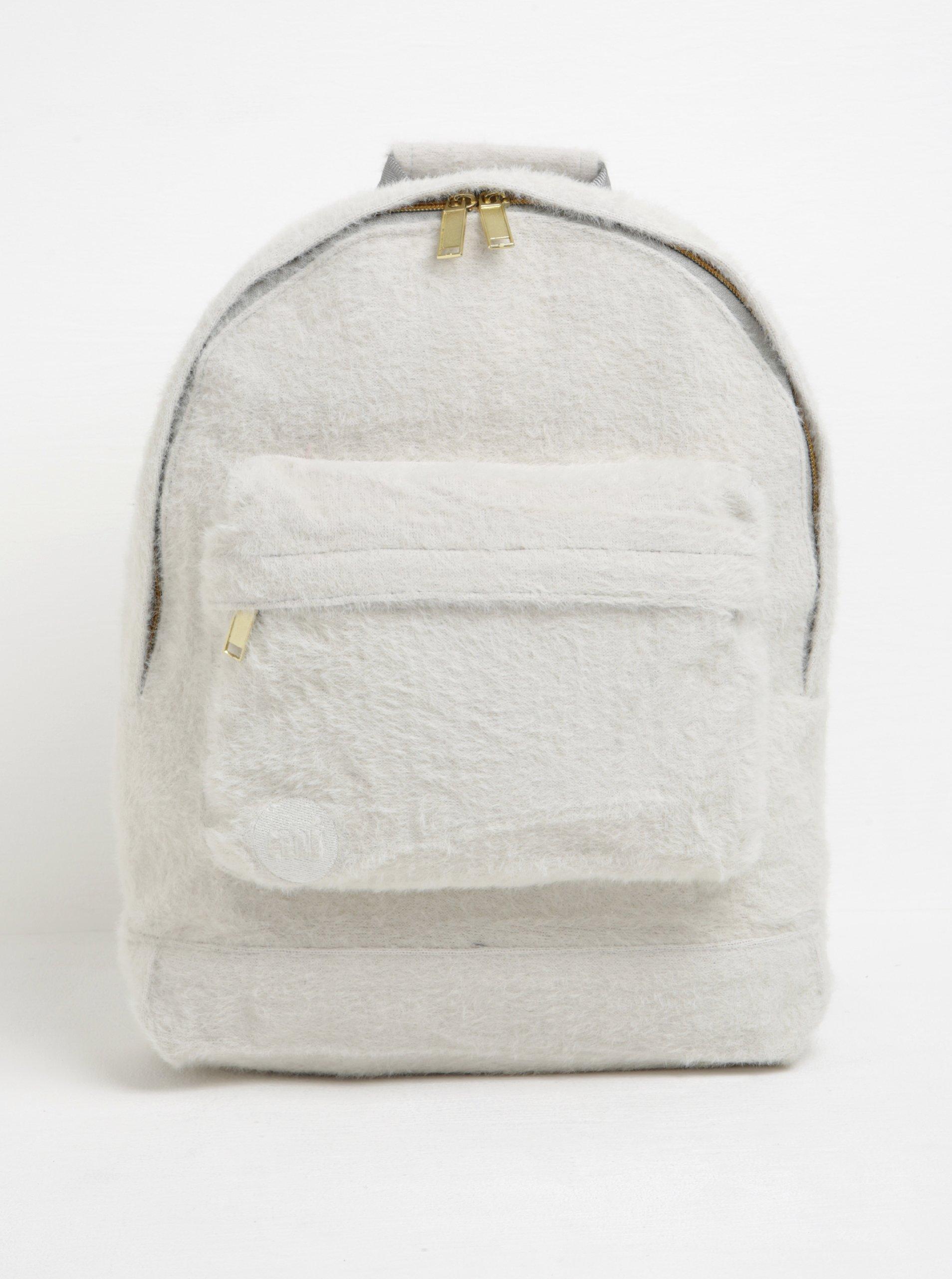 Krémový dámský batoh s nízkým vlasem Mi-Pac Fur