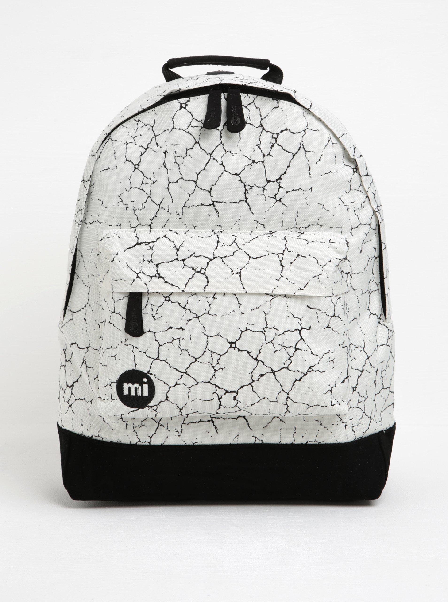 Čierno-krémový vzorovaný batoh Mi-Pac Cracked 17 l