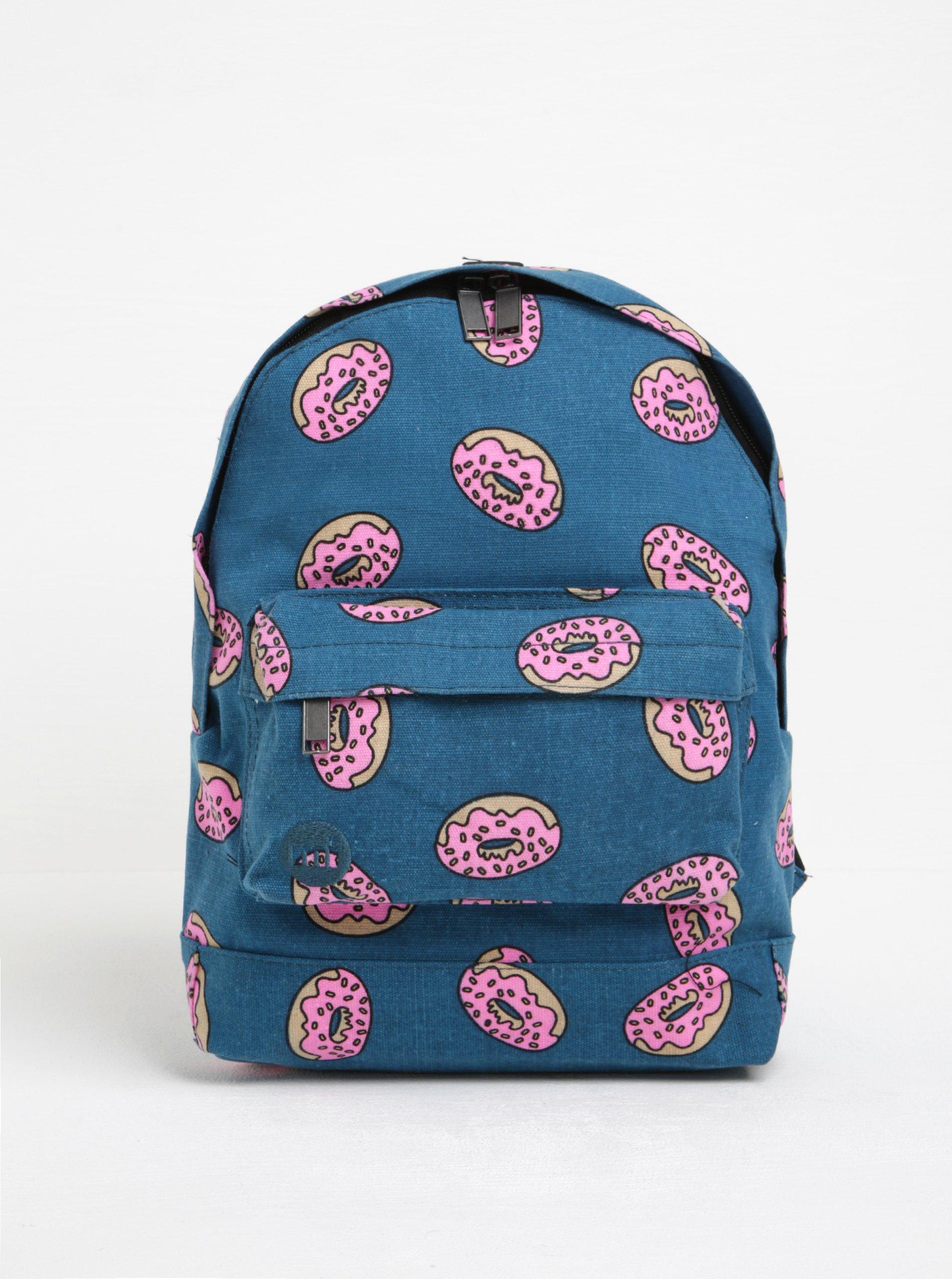 Modrý dětský batoh s potiskem donutů Mi-Pac Mini Doughnut 10,5 l
