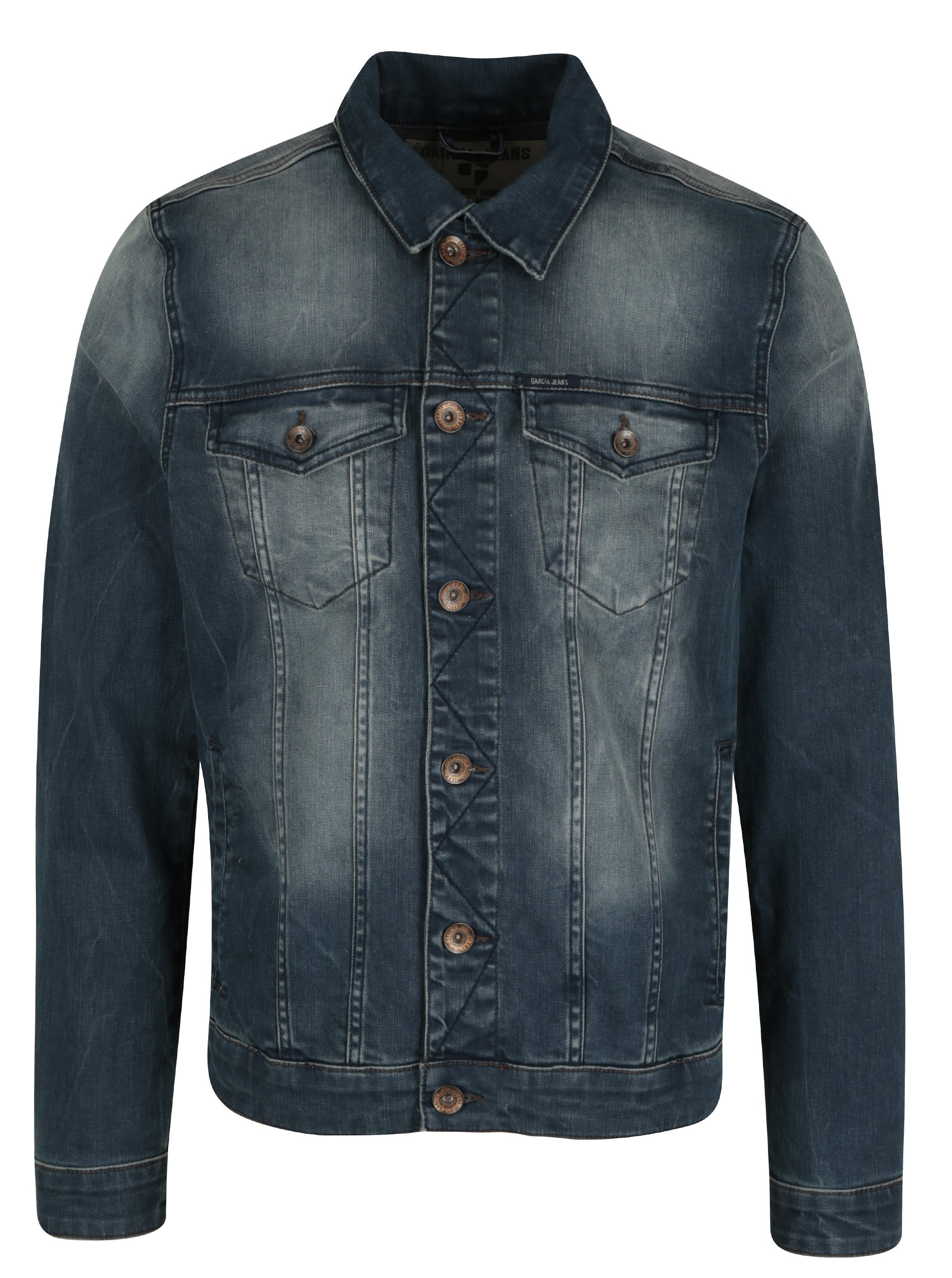 Modrá pánská džínová bunda Garcia Jeans