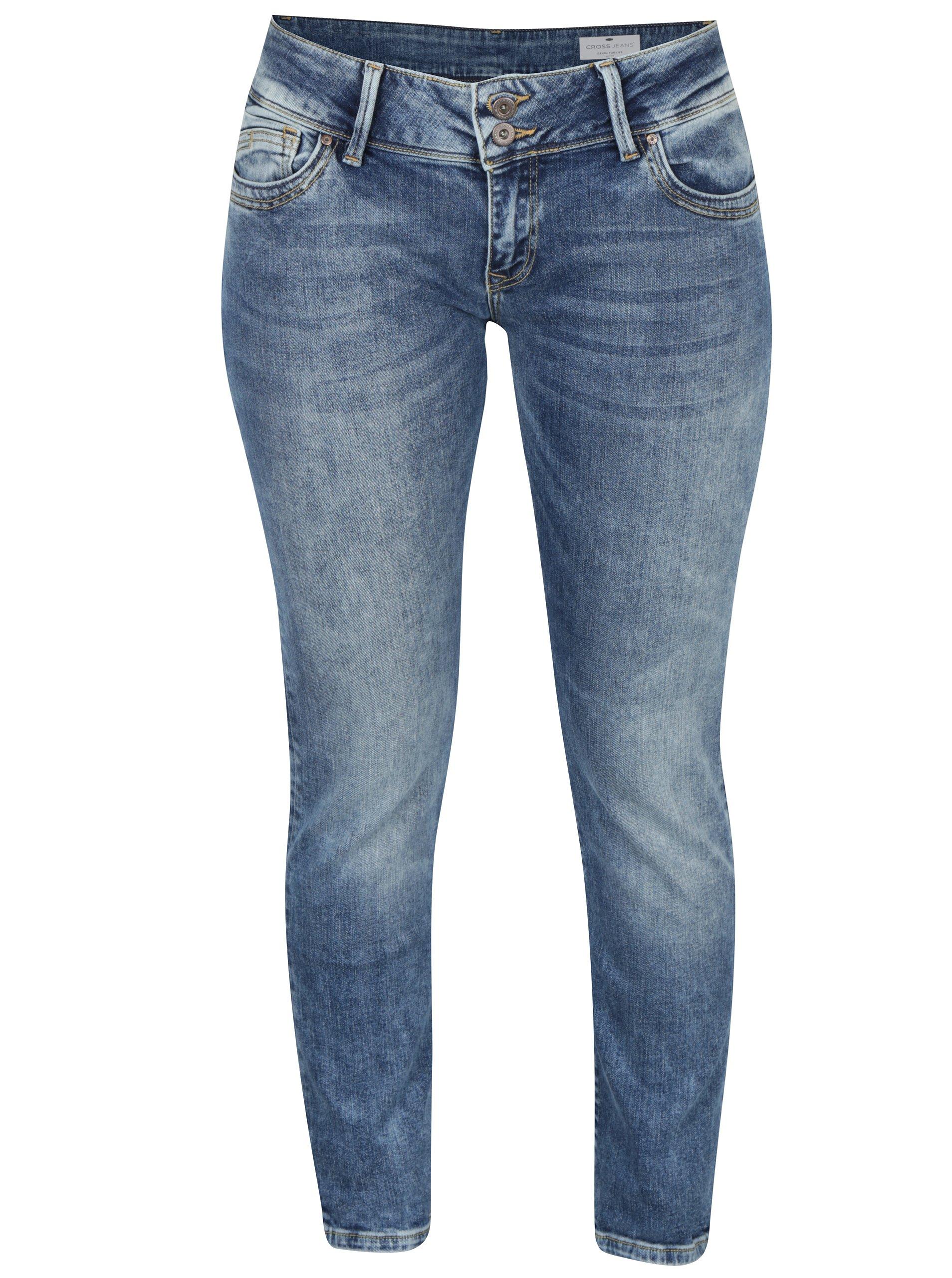 Modré dámské skinny fit džíny Cross Jeans