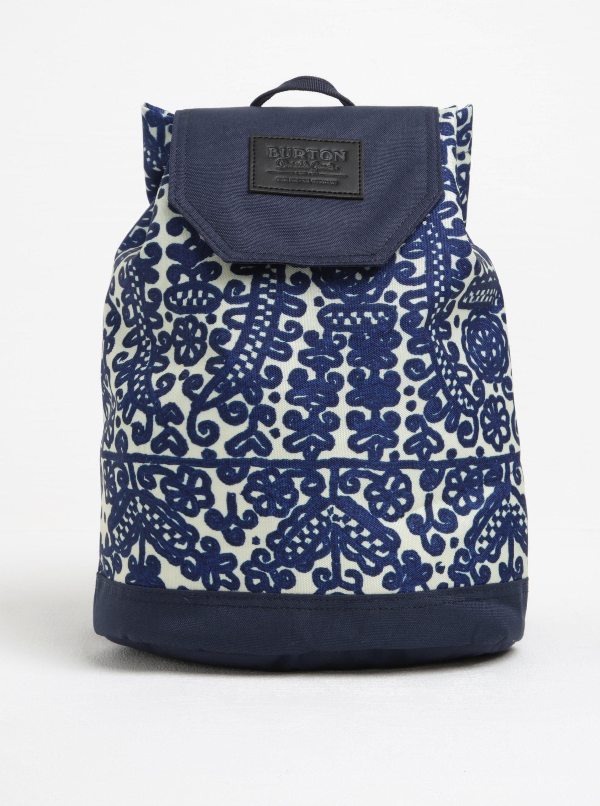 Krémovo-modrý dámský vzorovaný batoh Burton Parcel 10 l