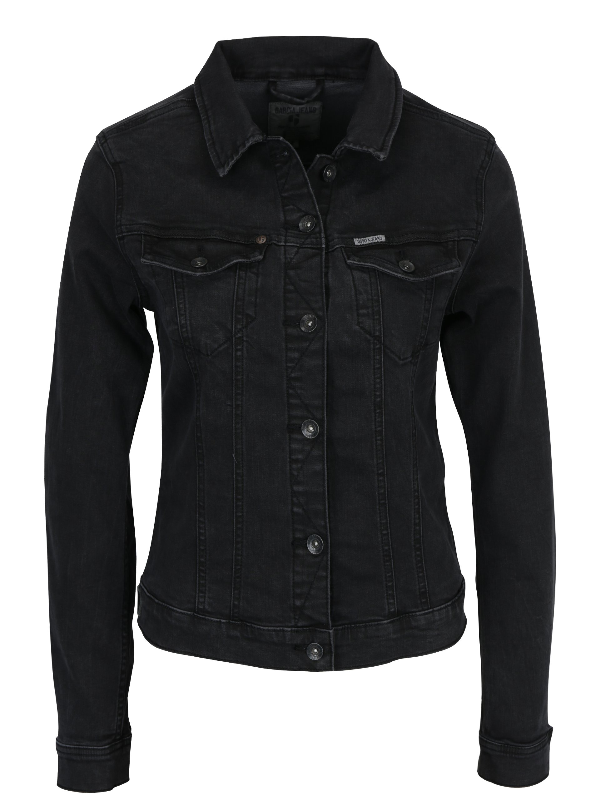 Černá dámská džínová bunda Garcia Jeans Sofia