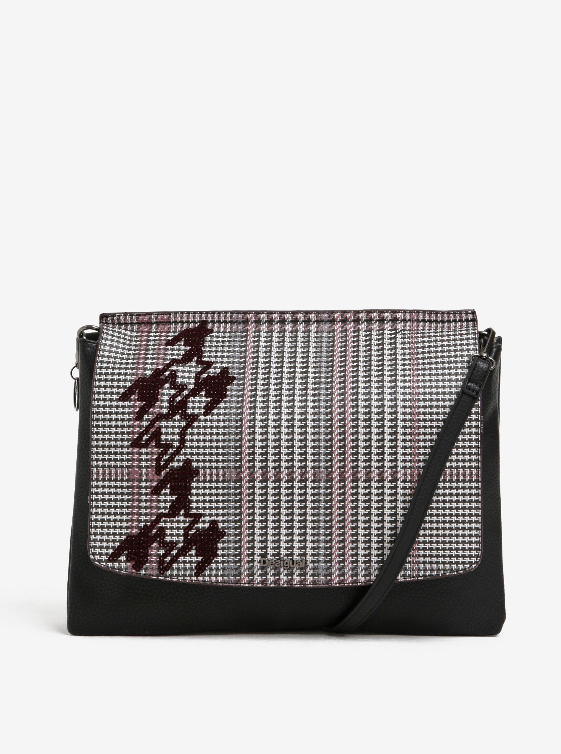 Černá vzorovaná crossbody kabelka Desigual Amberes Maxi Climber d14d3e61785