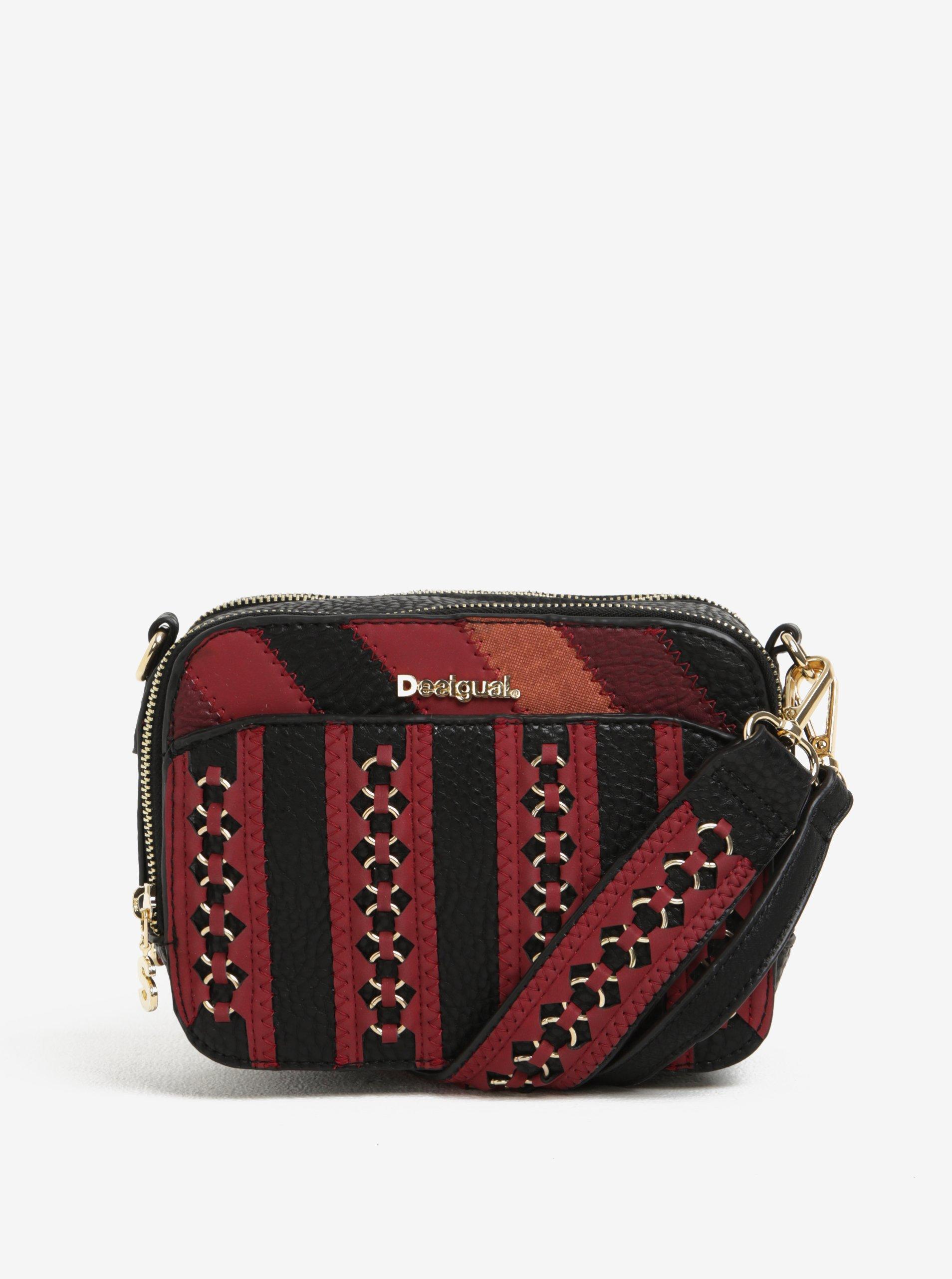 Červeno-černá crossbody kabelka Desigual Jasper Juno