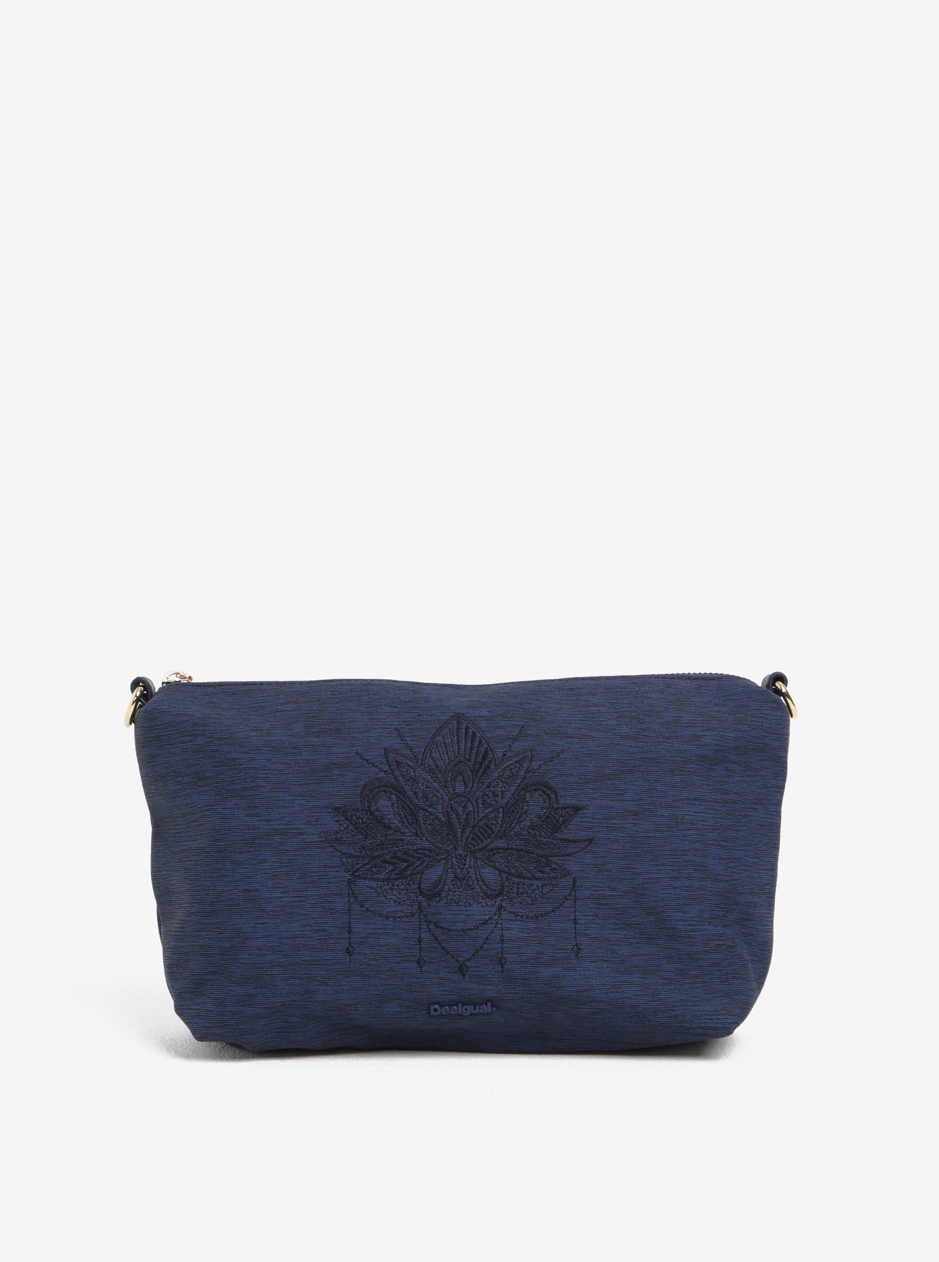 ... Tmavě modrá žíhaná kabelka do ruky crossbody kabelka Desigual Florida  Soft Mehndi 51fa313e0a3