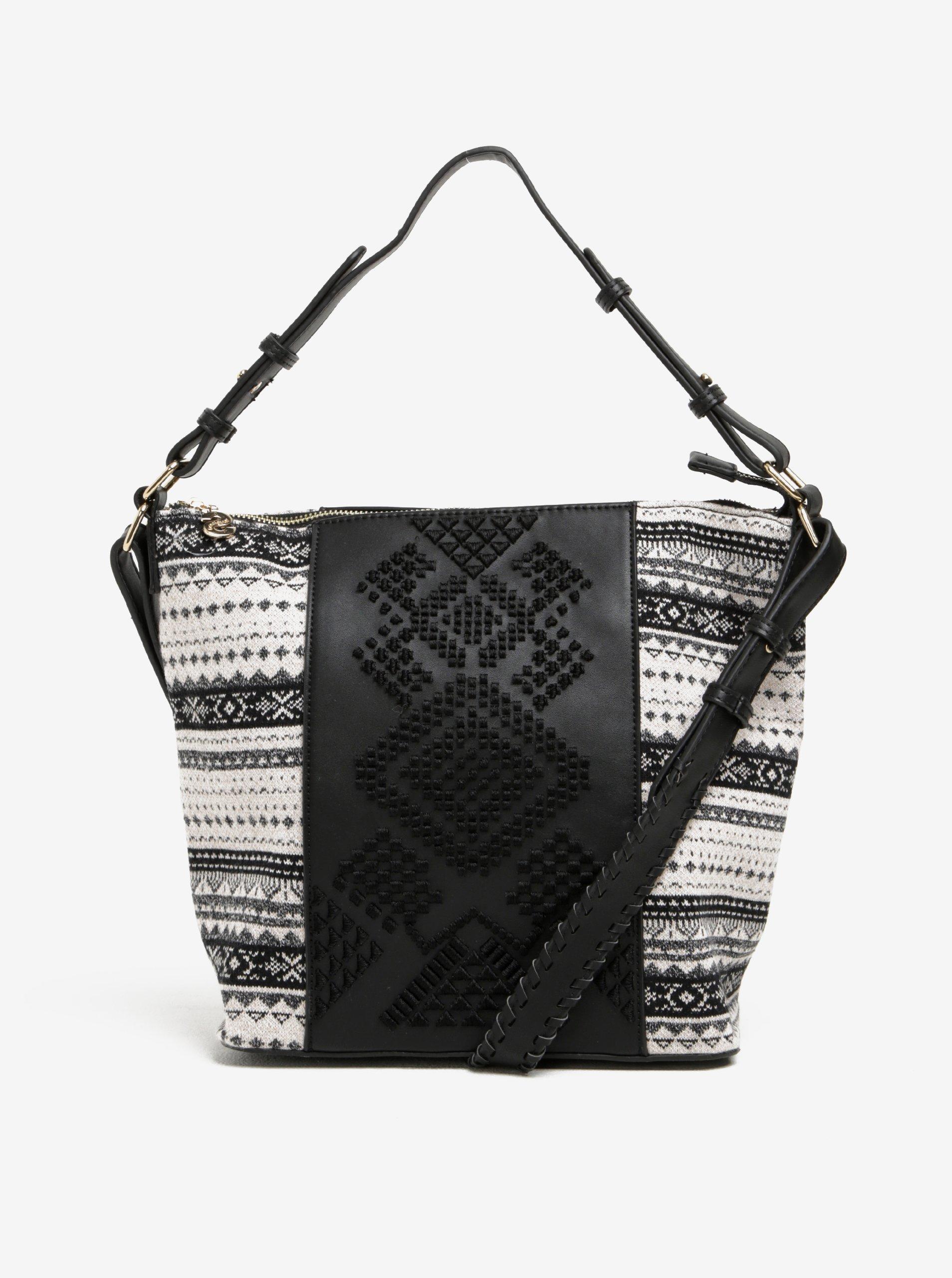 Krémovo-černá kabelka do ruky crossbody kabelka Desigual Lila Astún 9fcbcfcf7da
