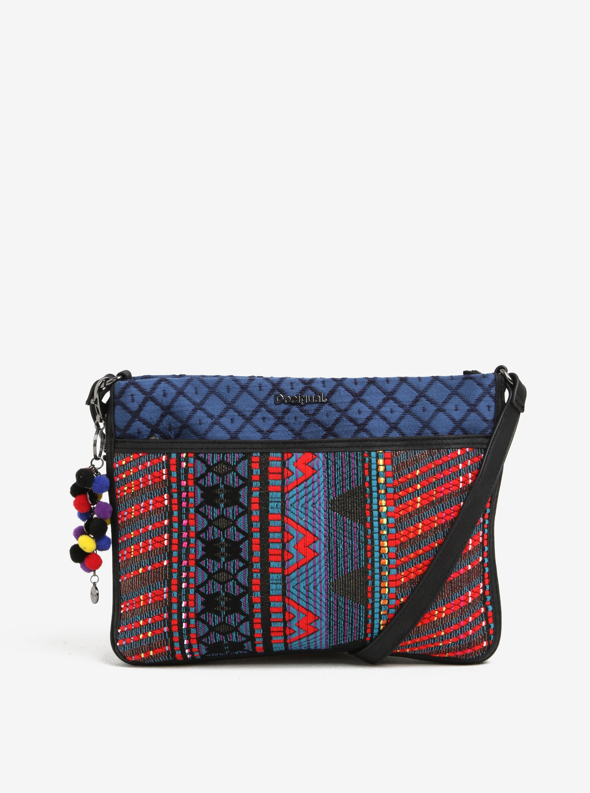 Červeno-modrá crossbody kabelka Desigual Formigal Togo