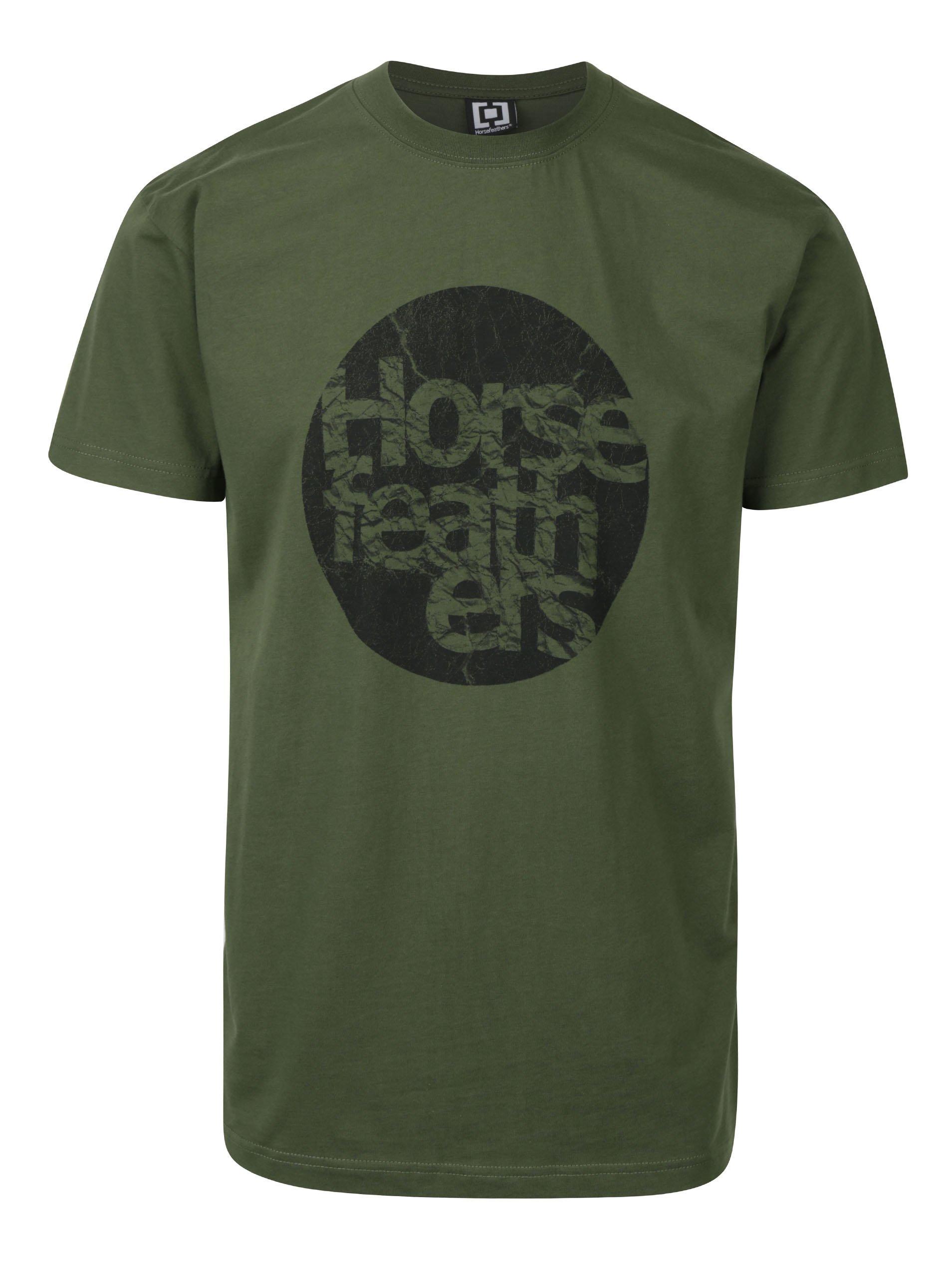 Zelené pánské tričko s potiskem Horsefeathers Bout