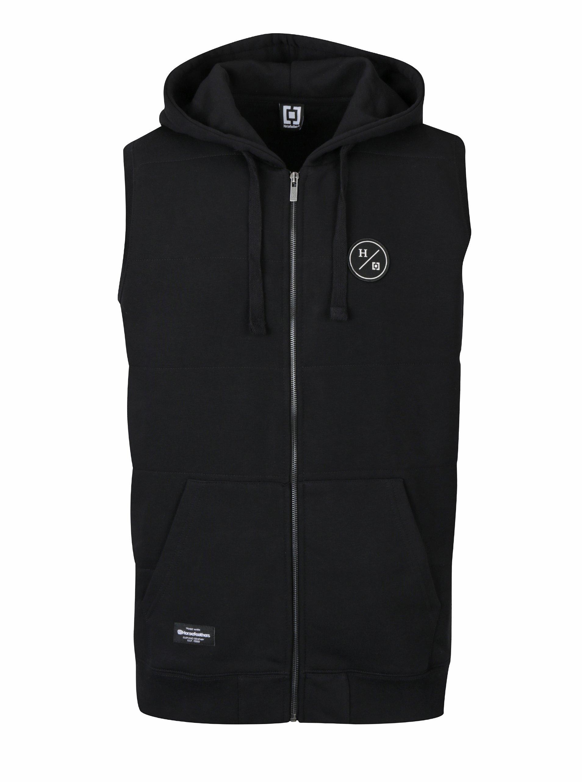 Černá pánská vesta s kapucí Horsefeathers Forest