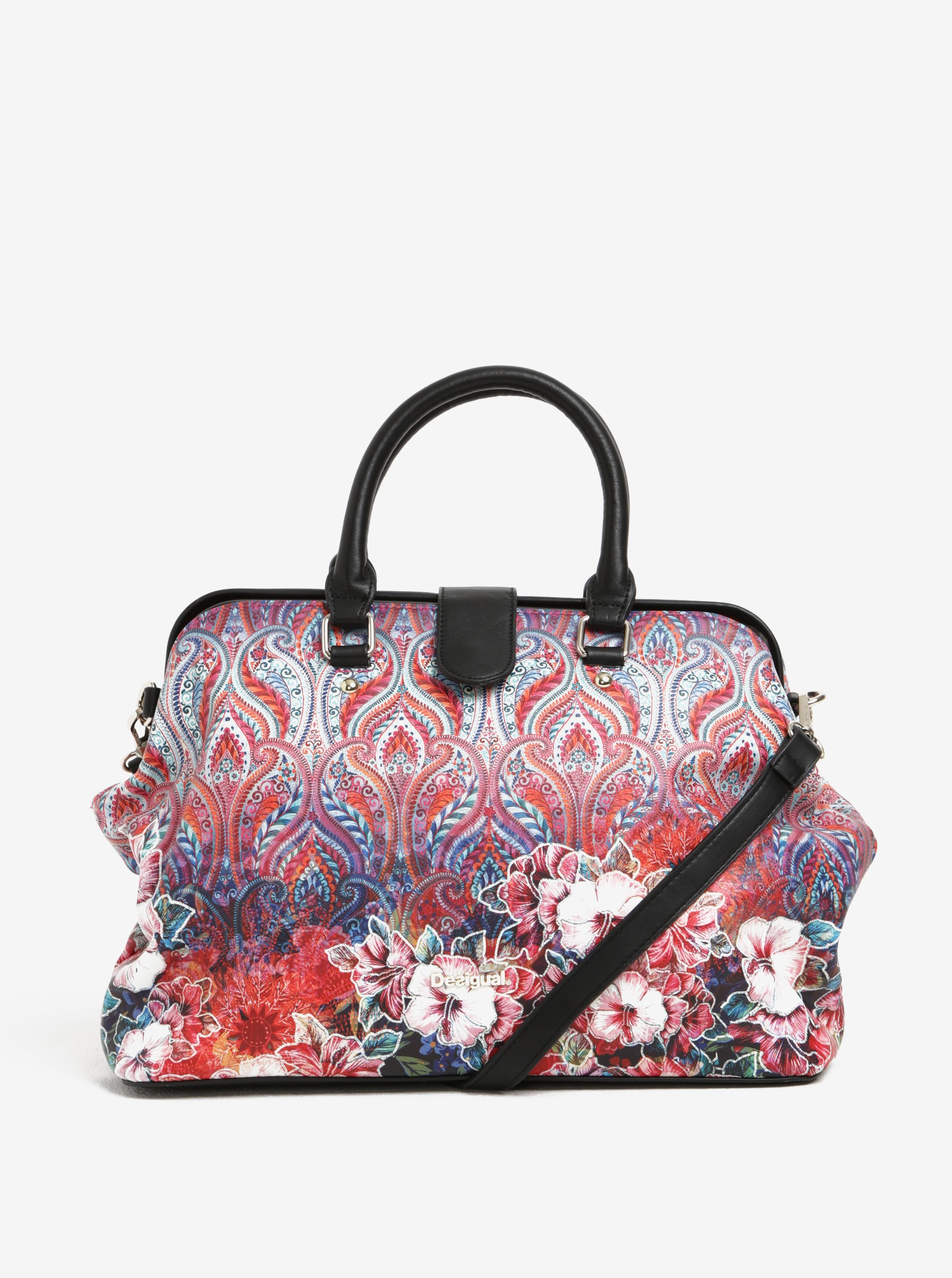 749cddf9d6 Růžová vzorovaná kabelka do ruky Desigual Nicaragua Freya