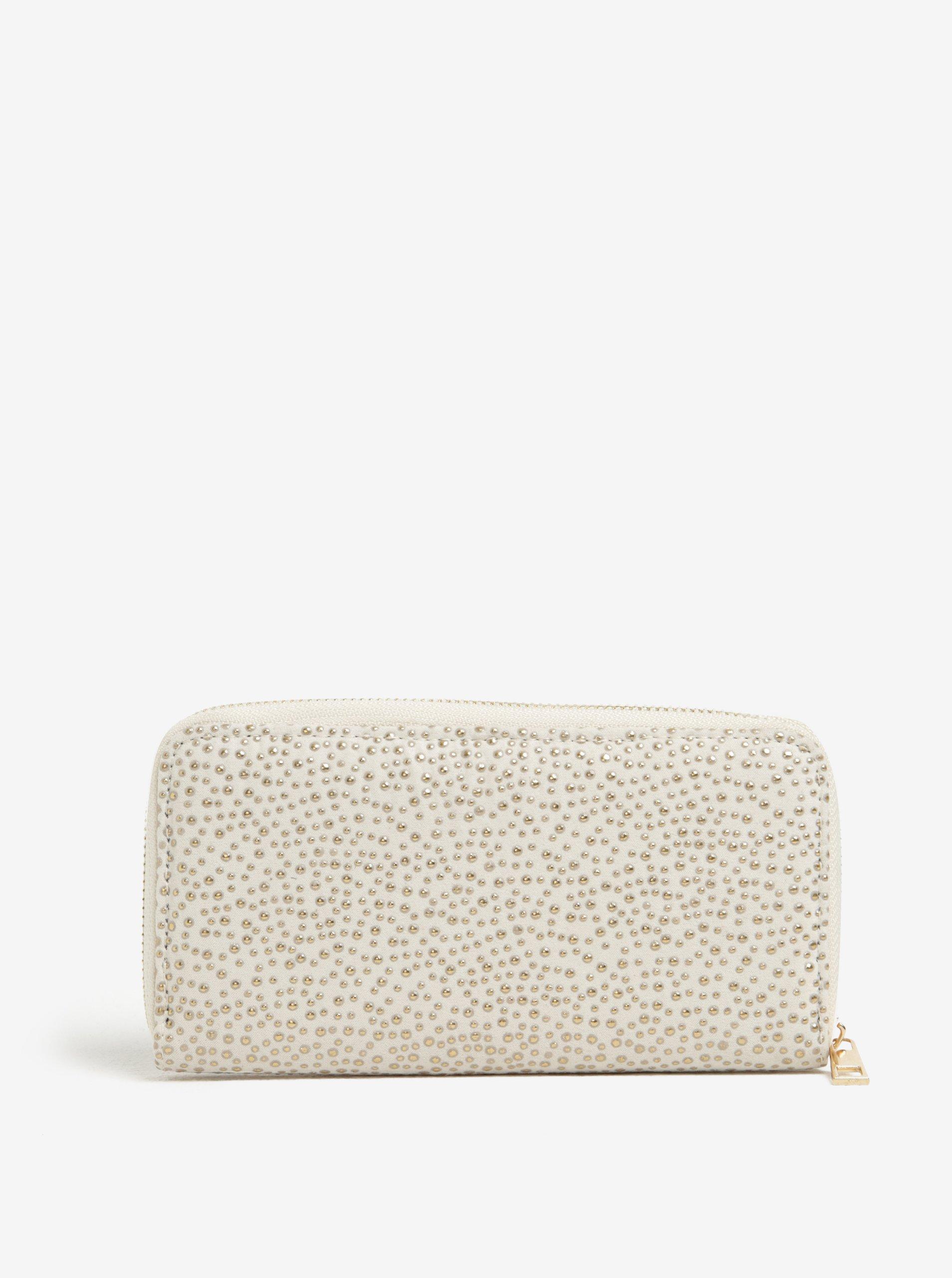 Béžová peněženka s aplikací ve zlaté barvě Haily´s Pam