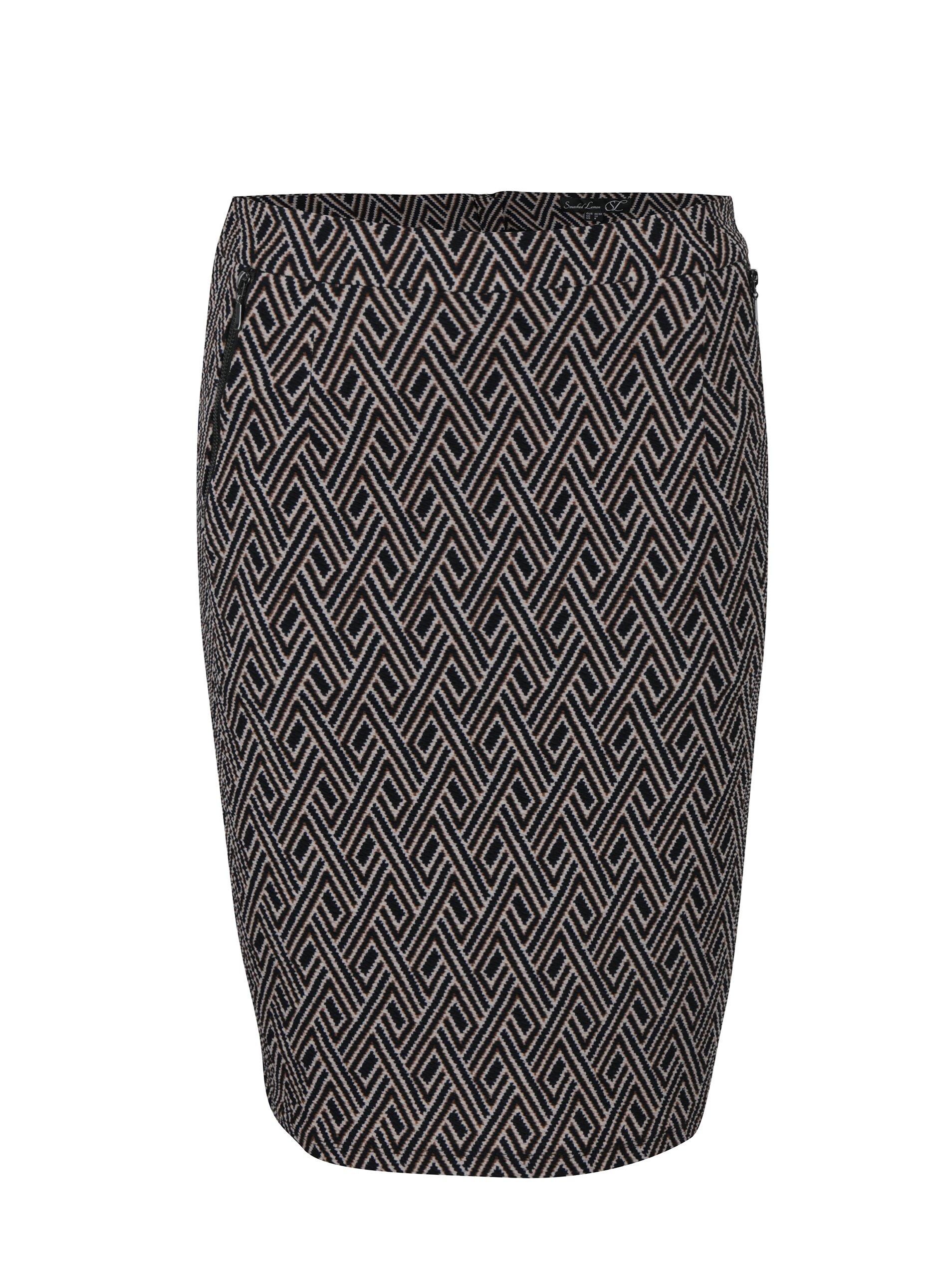 Černá vzorovaná sukně Smashed Lemon