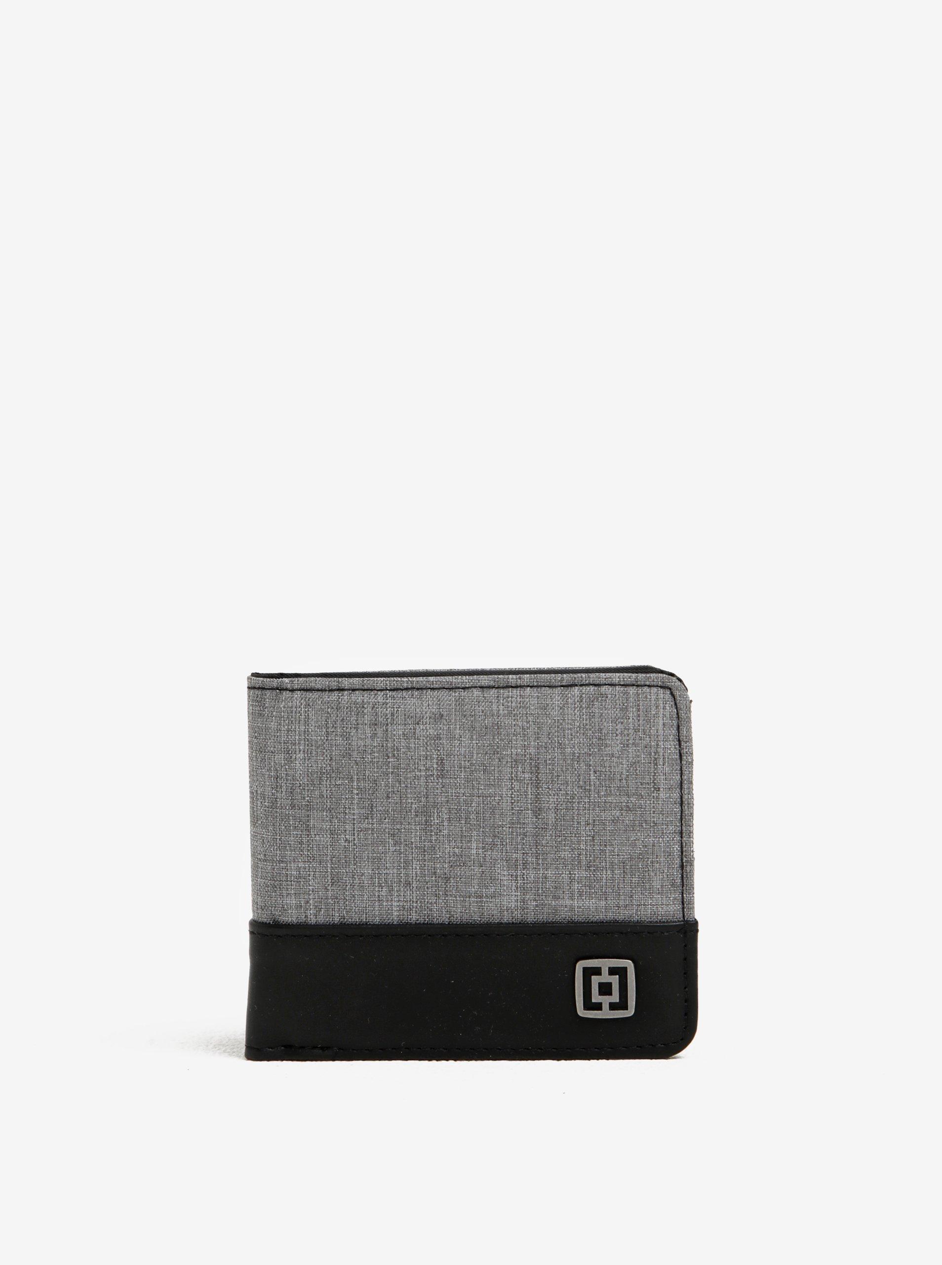 Černo-šedá pánská peněženka Horsefeathers Terry