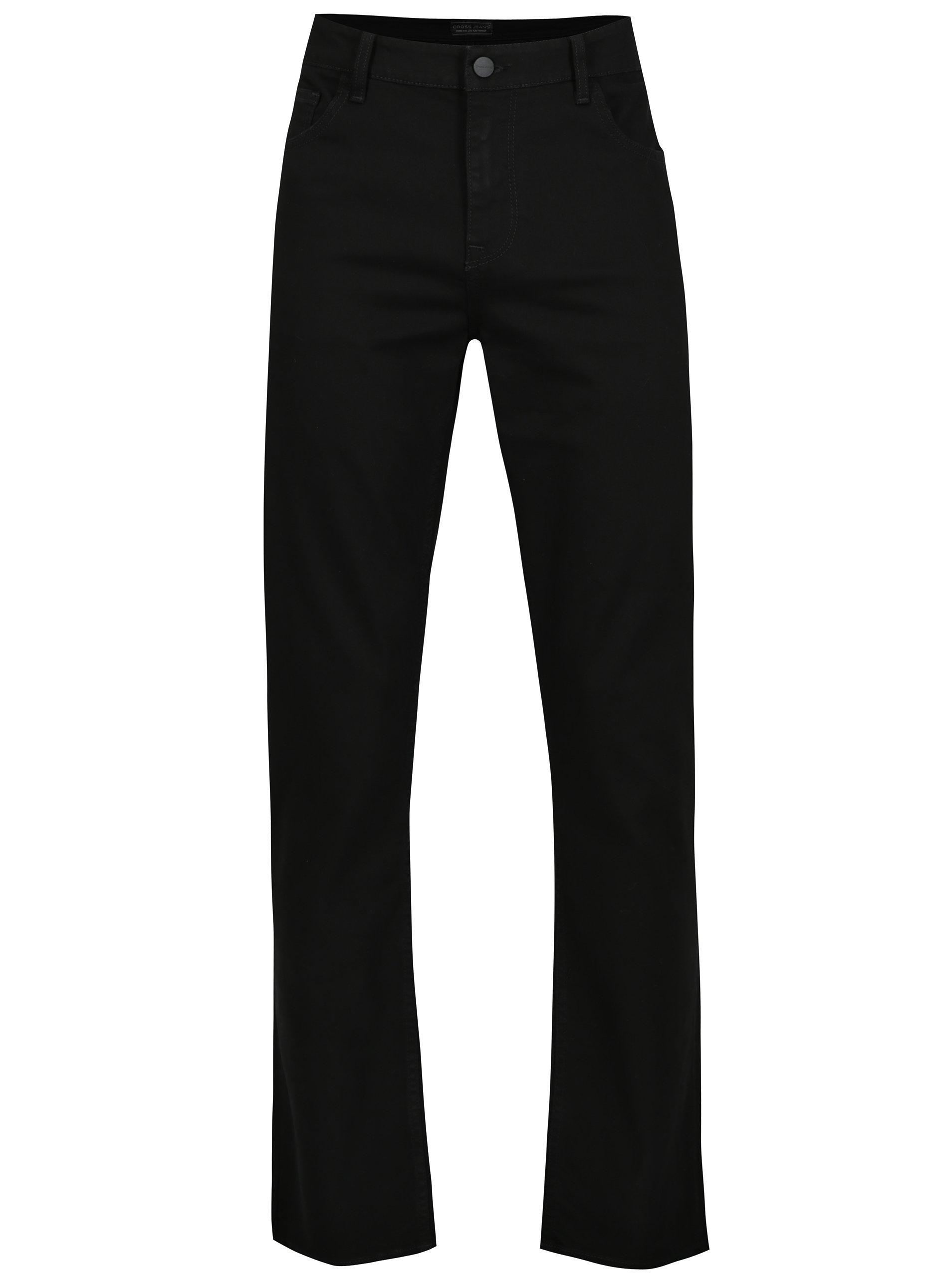 Černé pánské regular tapered džíny Cross Jeans