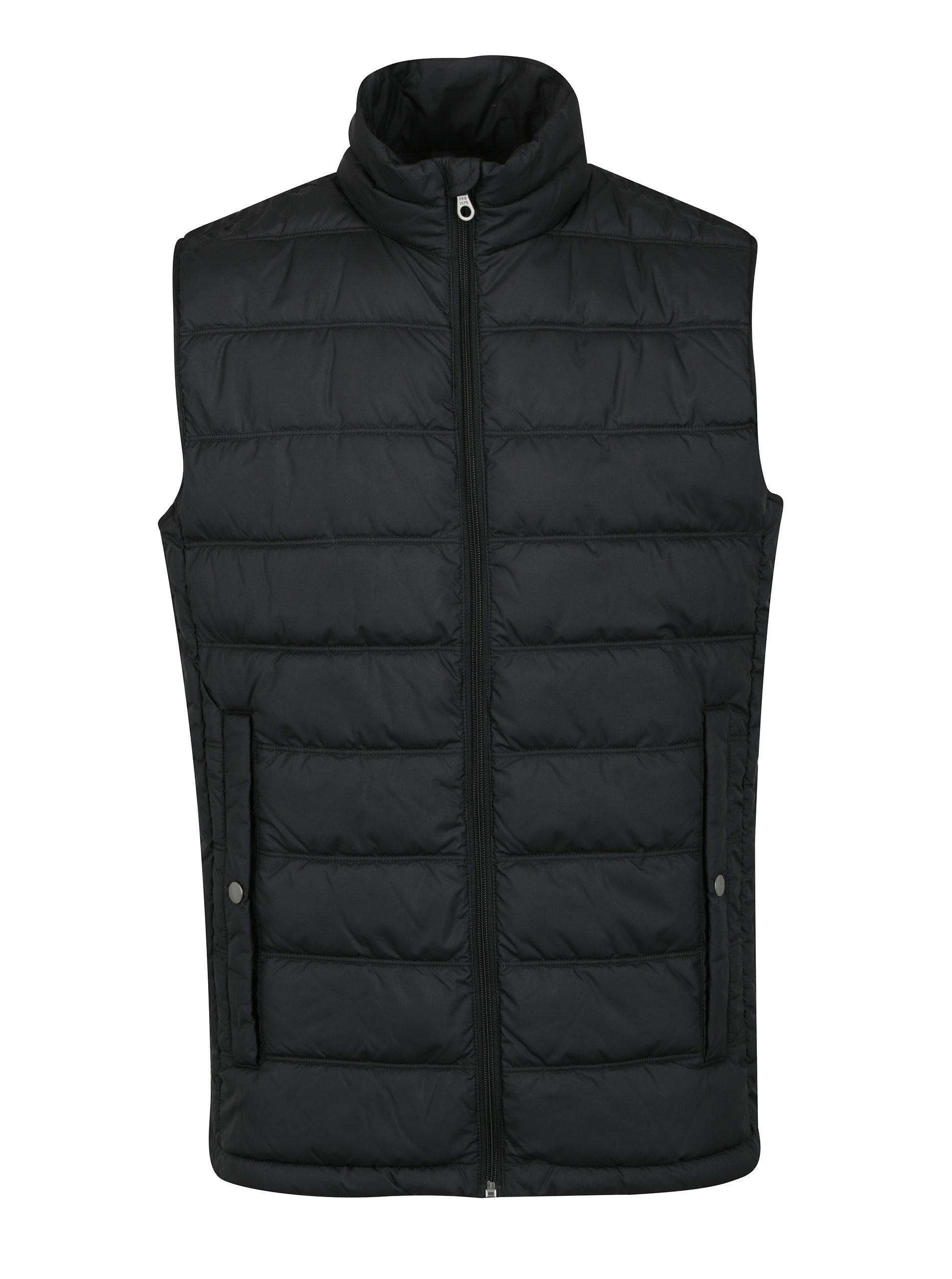 Černá prošívaná vesta Jack & Jones Body