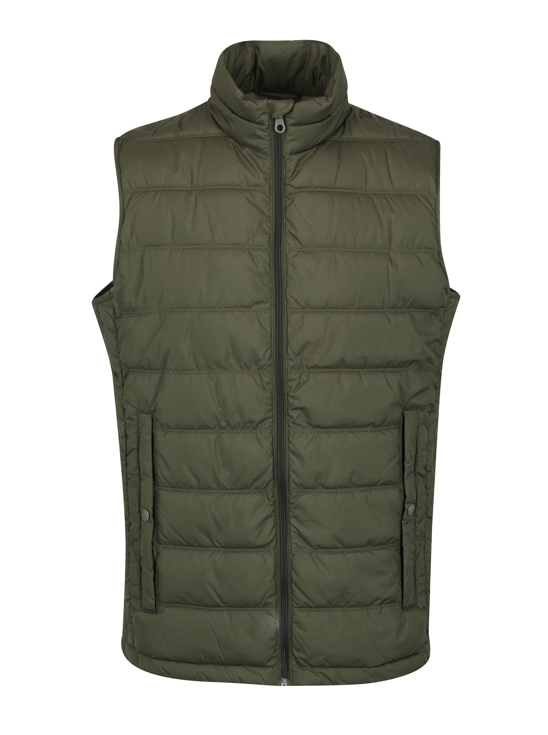 Zelená prošívaná vesta Jack & Jones Body