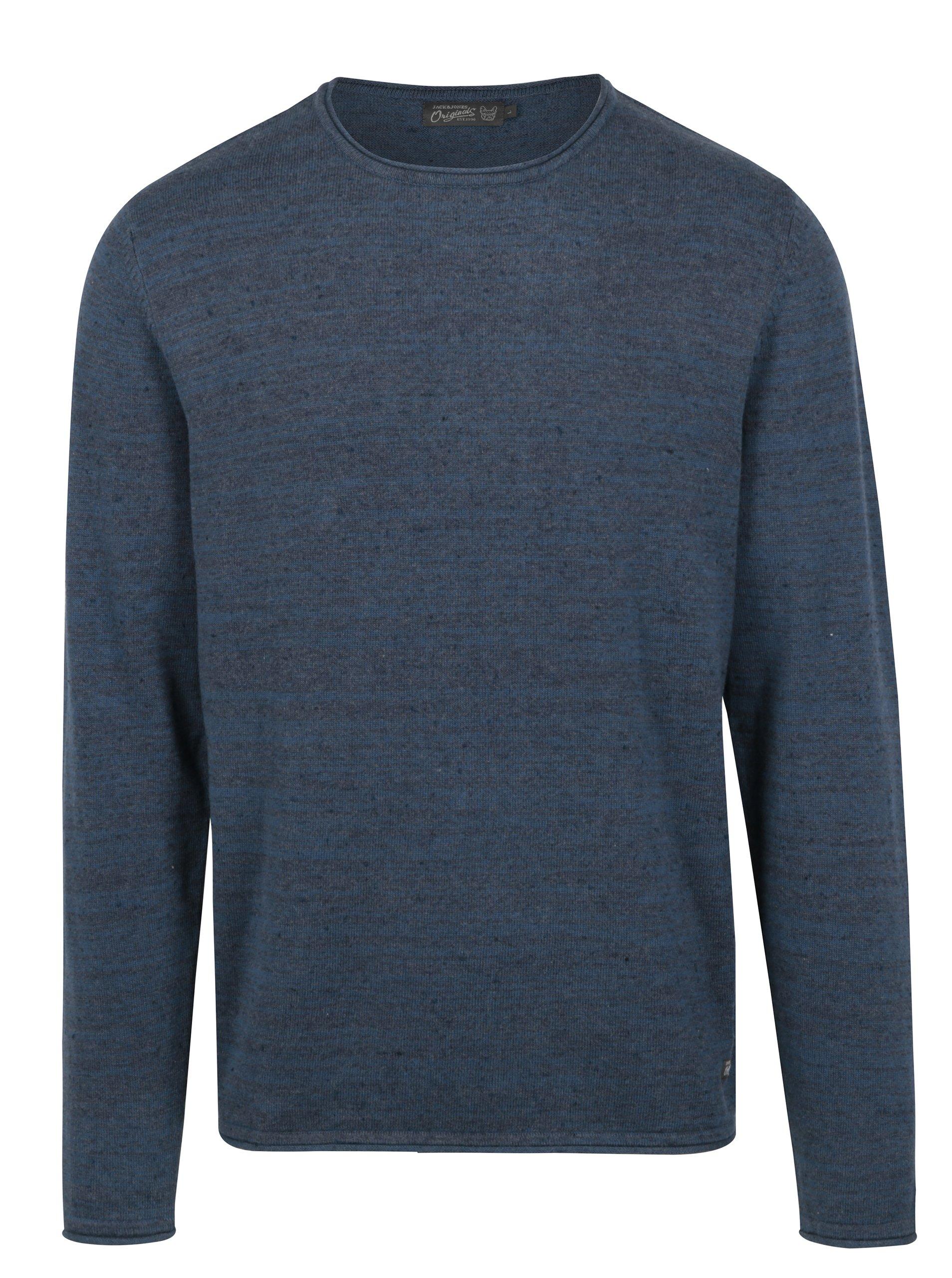 Modrý žíhaný svetr Jack & Jones Wills