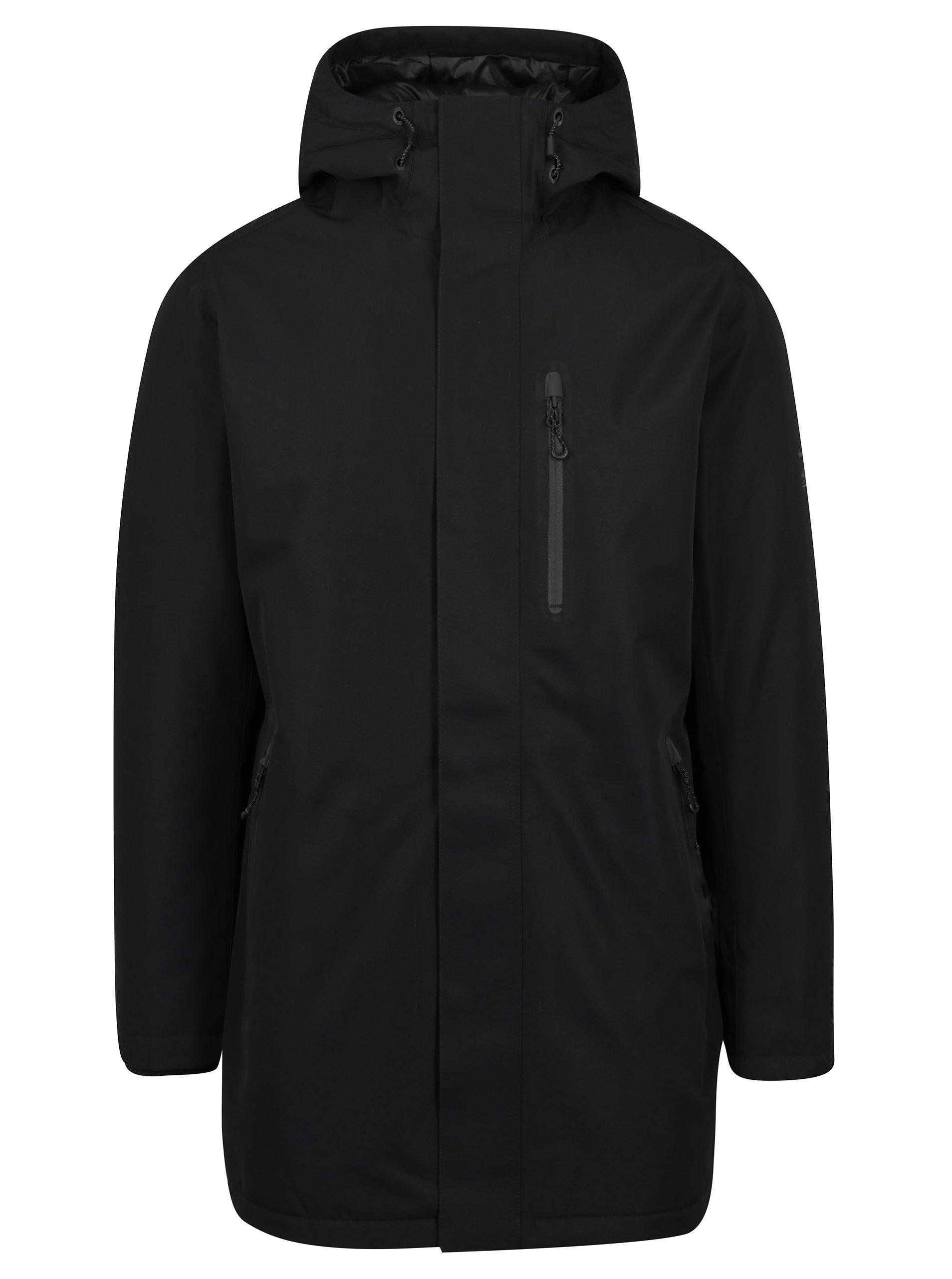 Černá zimní nepromokavá bunda Jack & Jones North Point