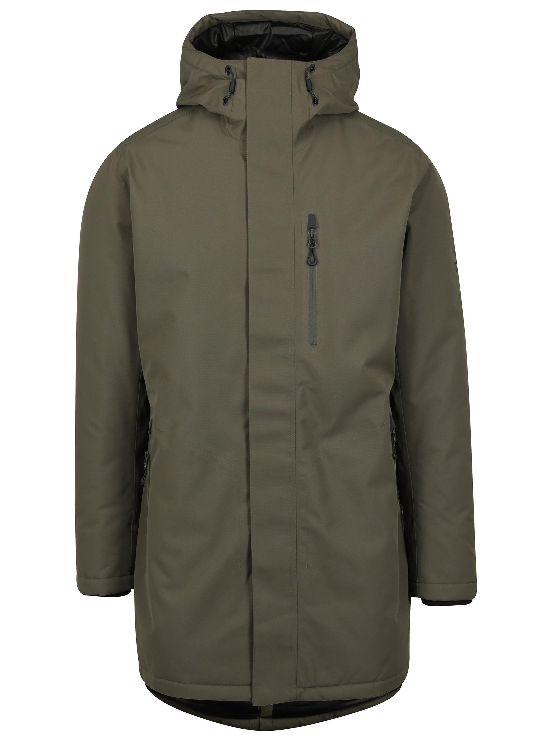 Khaki zimní nepromokavá bunda Jack & Jones North Point