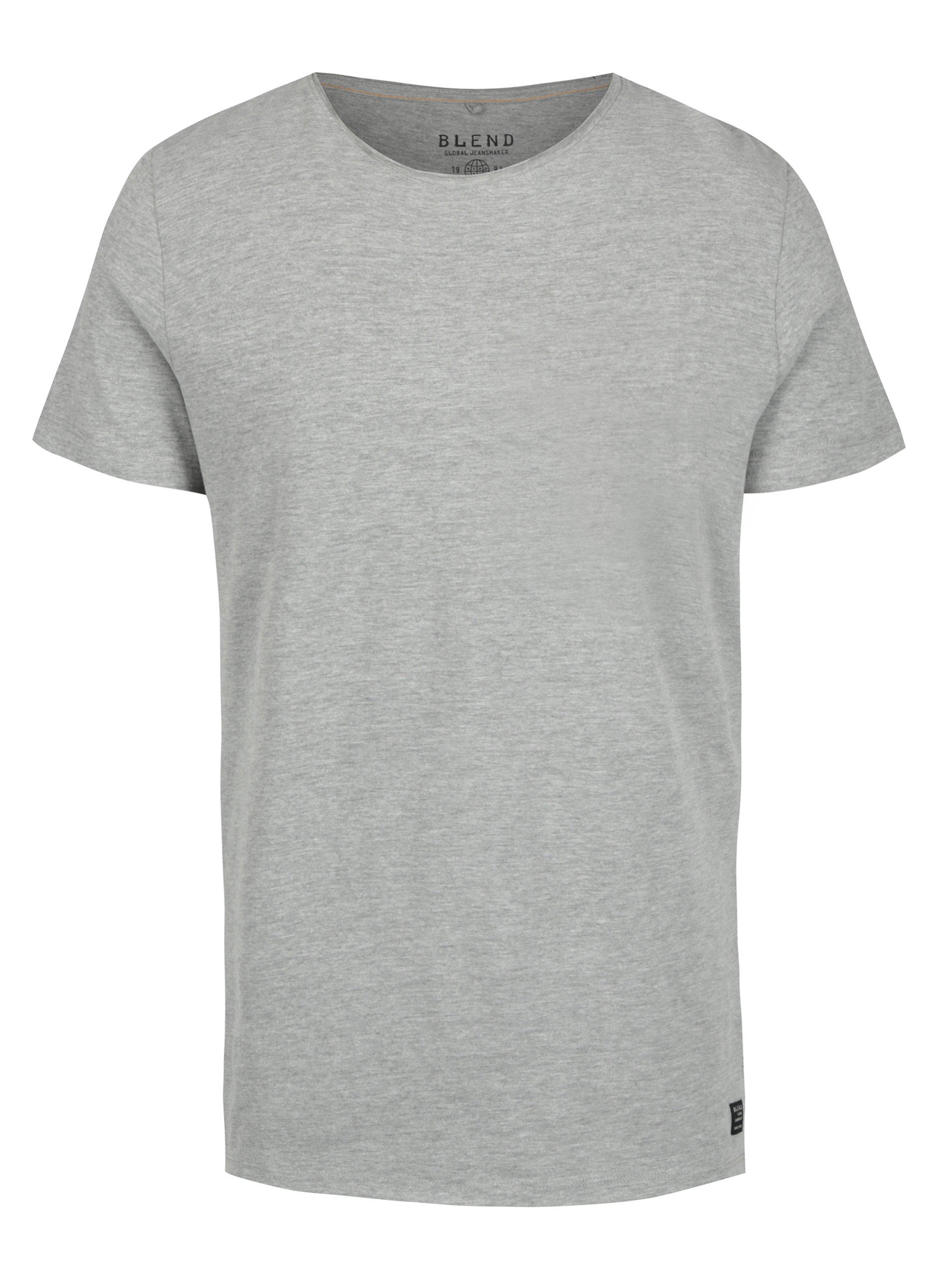 Šedé basic tričko s kulatým výstřihem Blend