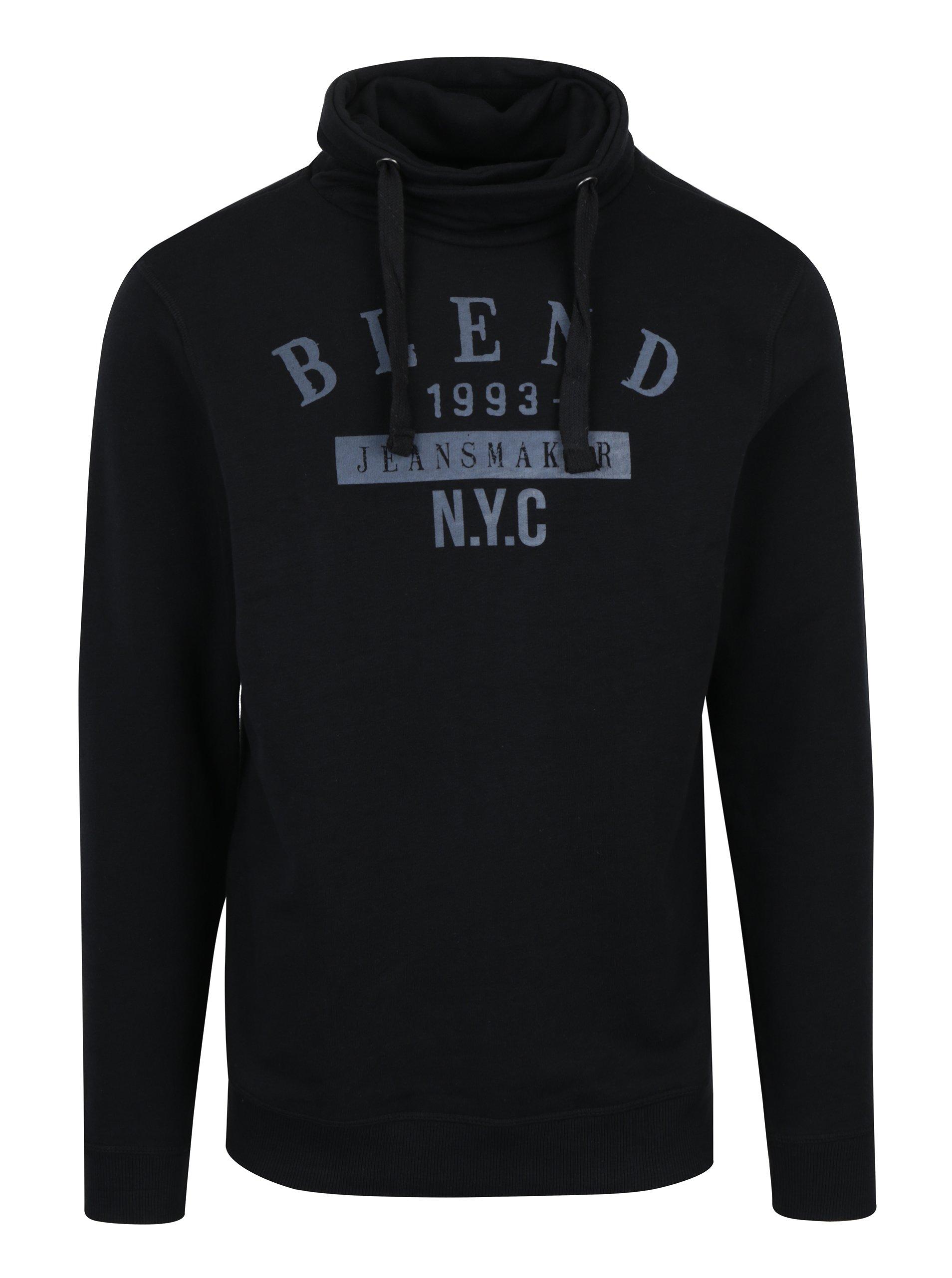 Černá regular fit mikina s vysokým límcem Blend
