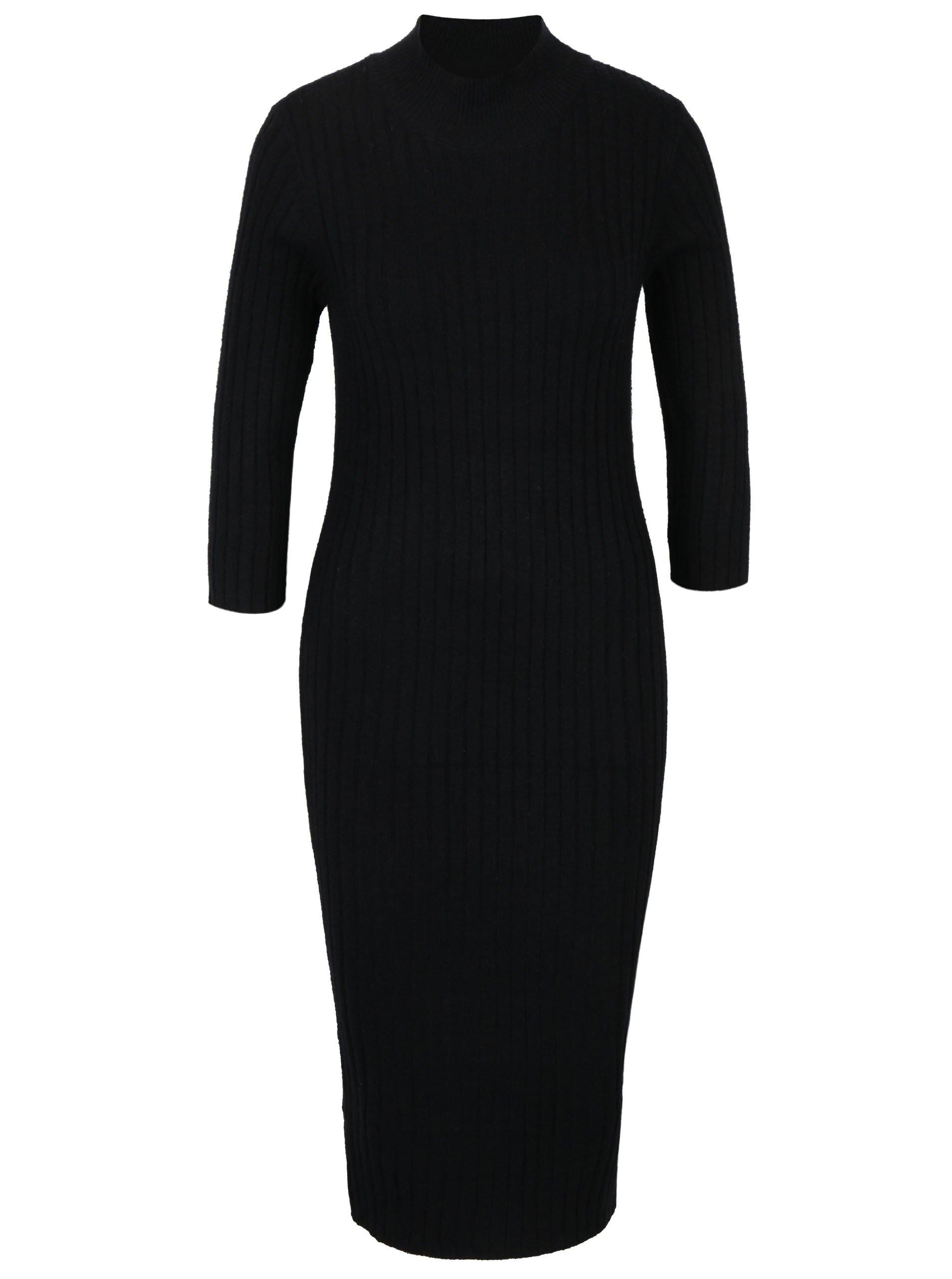 Černé pouzdrové svetrové šaty VERO MODA Ava