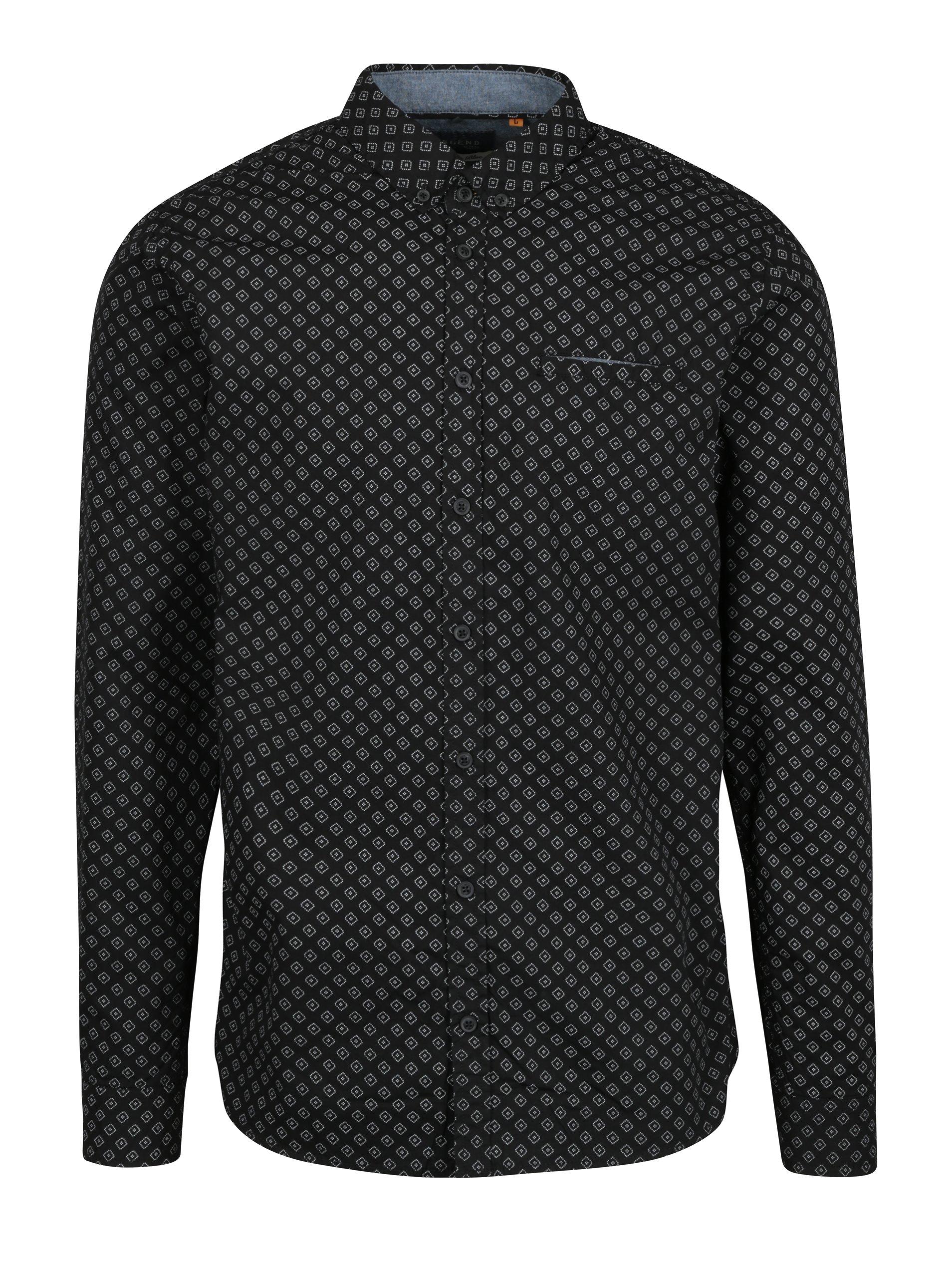 Černá vzorovaná slim fit košile Blend
