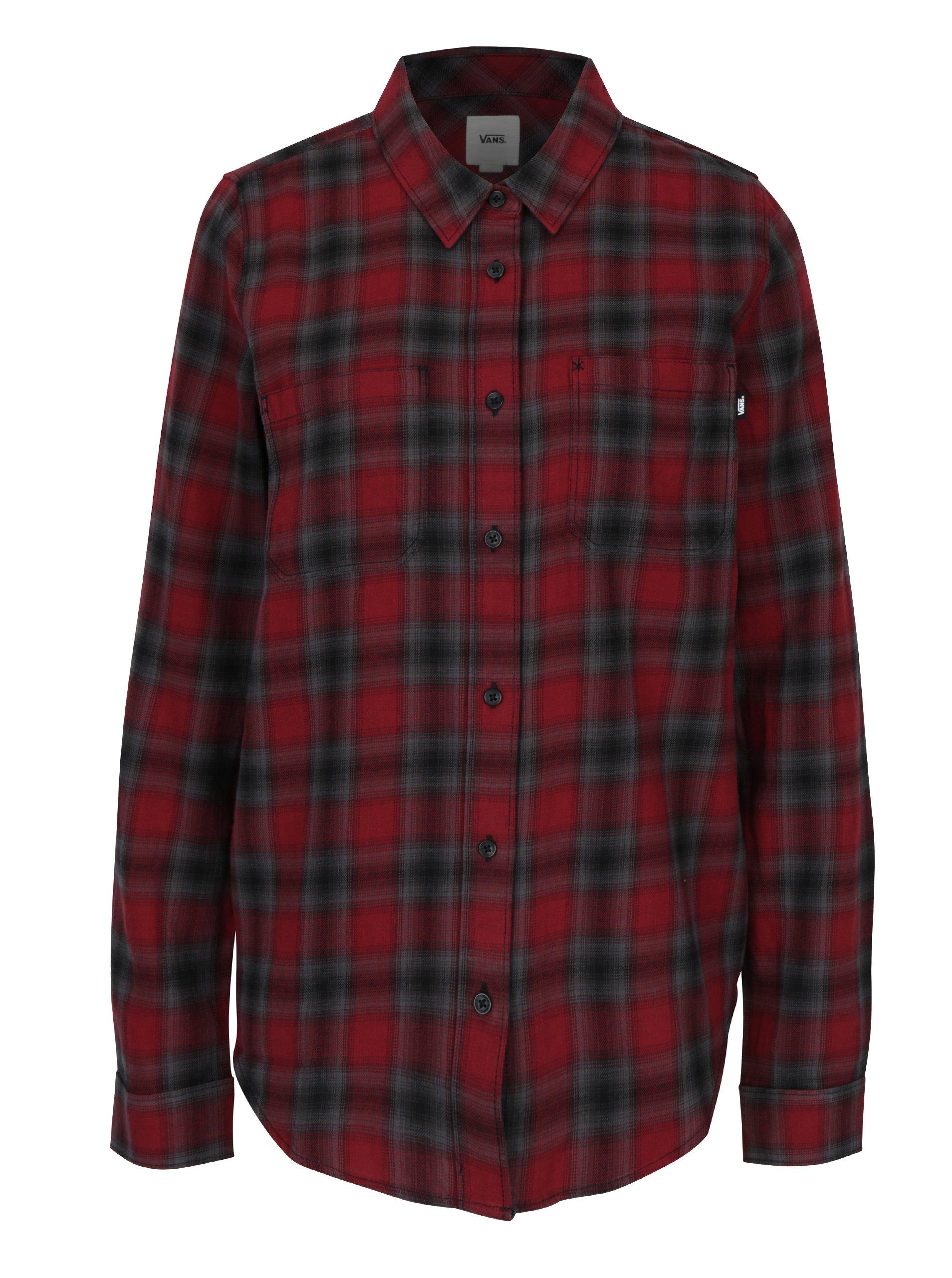 Šedo-červená dámská flanelová košile VANS Meridian