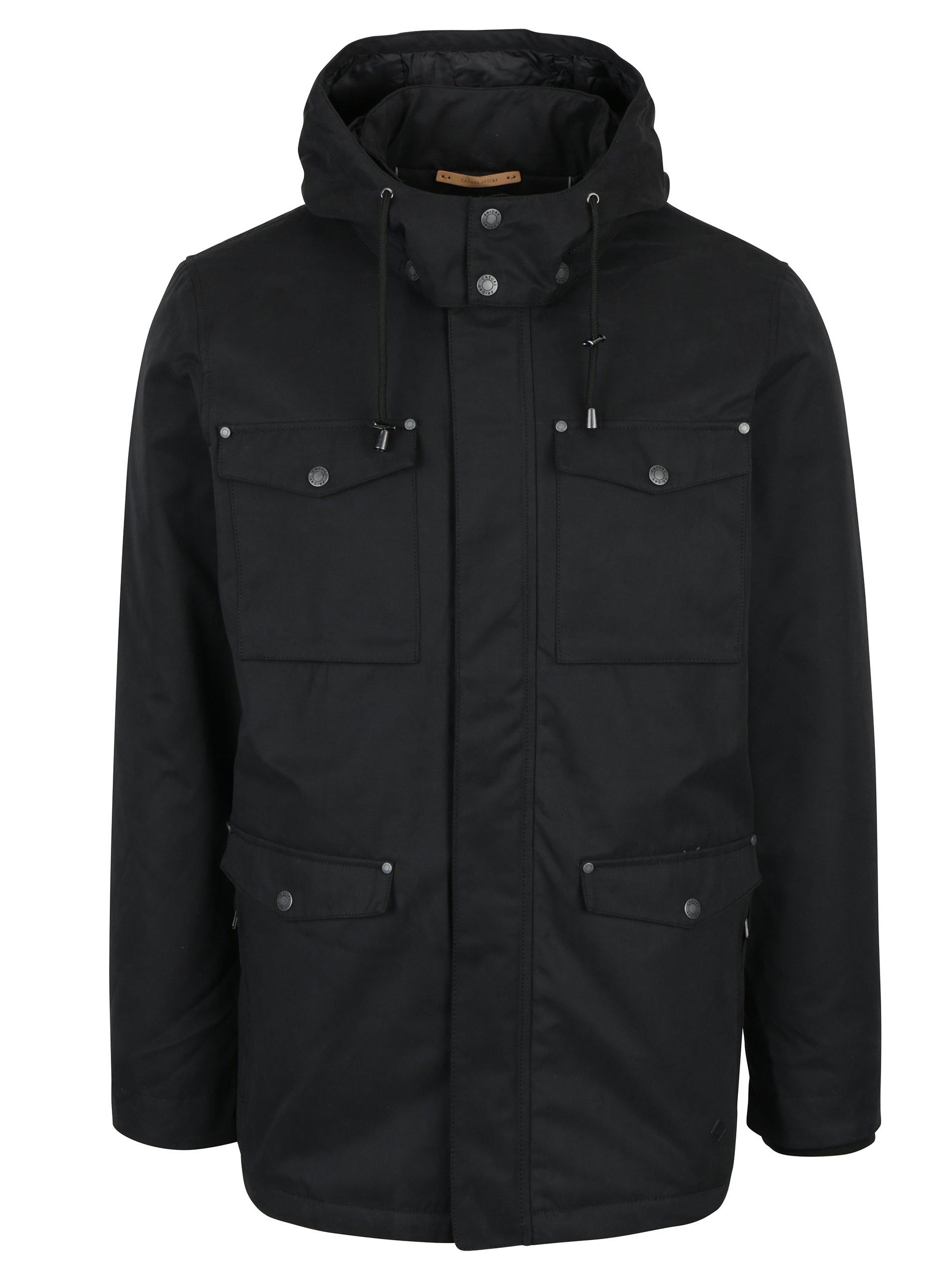 Černá bunda s odnímatelnou kapucí Casual Friday by Blend