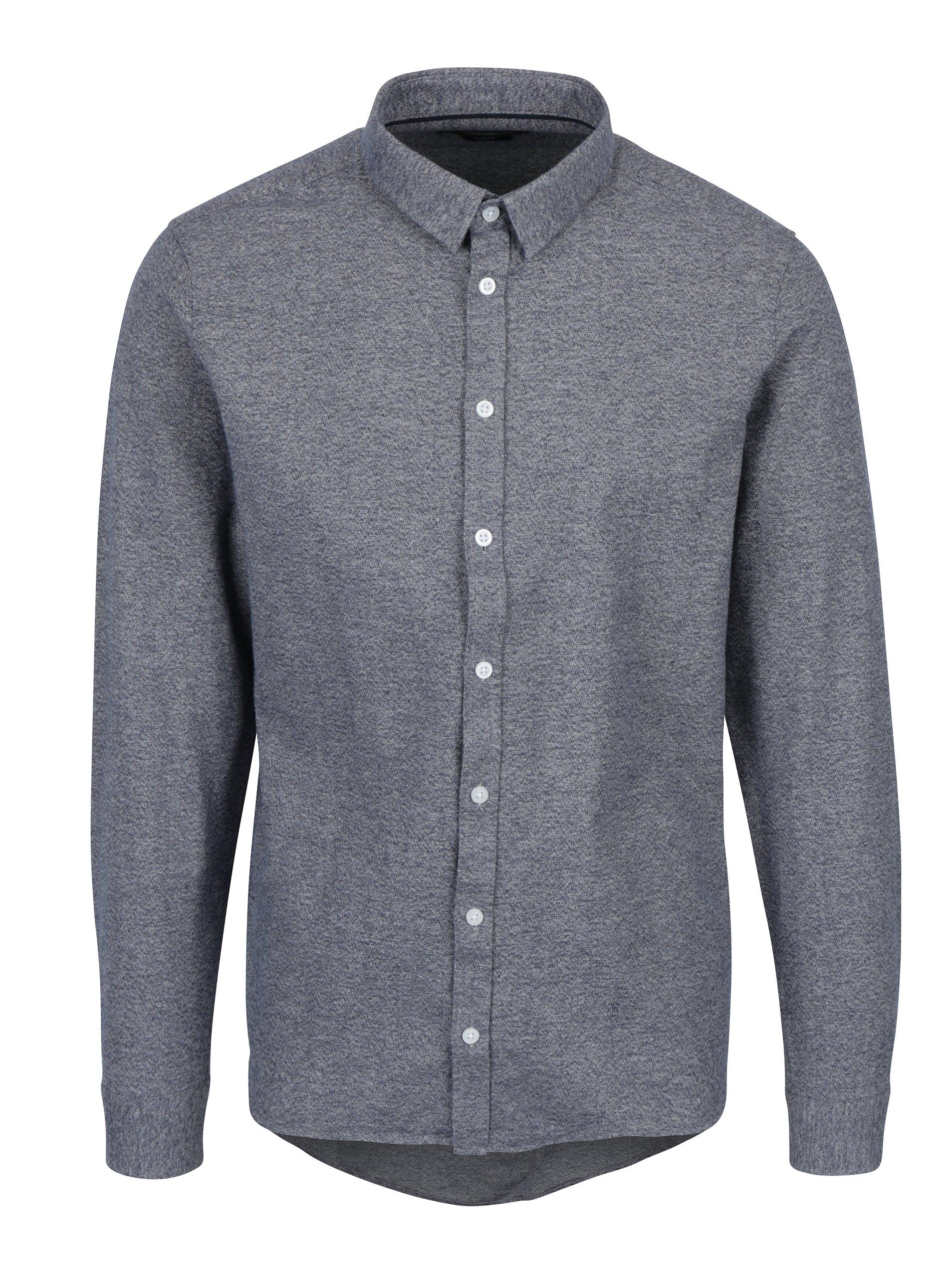 Tmavě modrá žíhaná košile Casual Friday by Blend
