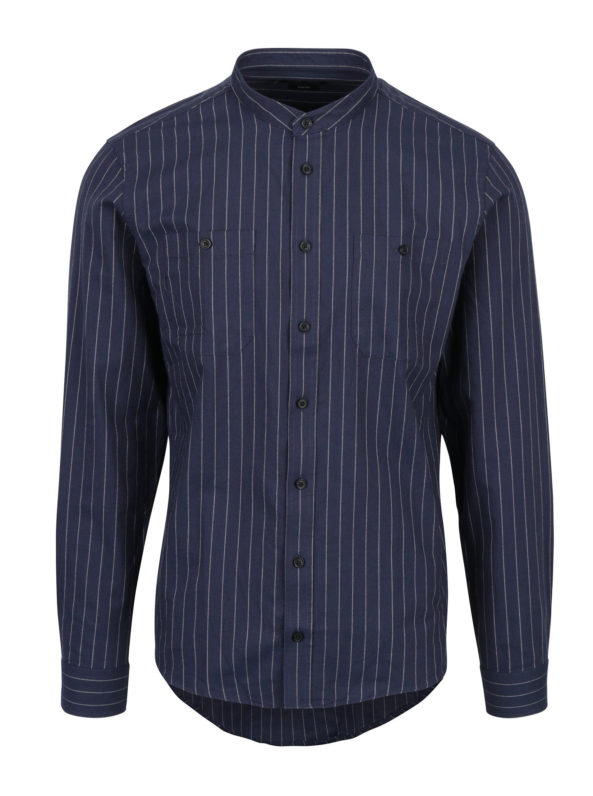 Tmavě modrá pruhovaná košile Casual Friday by Blend