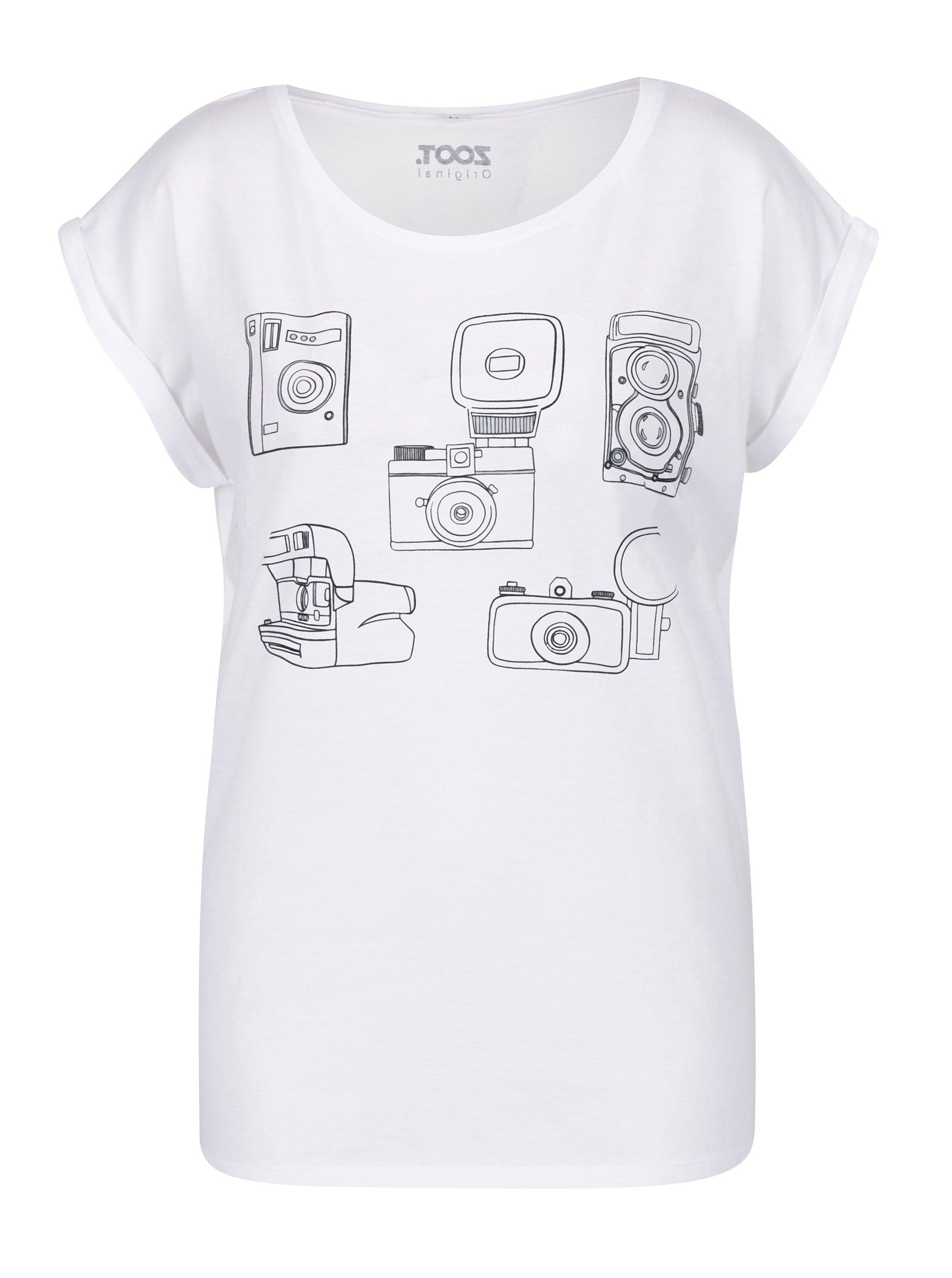 c2dffd639e5 Bílé dámské tričko s potiskem ZOOT Original Foťáky