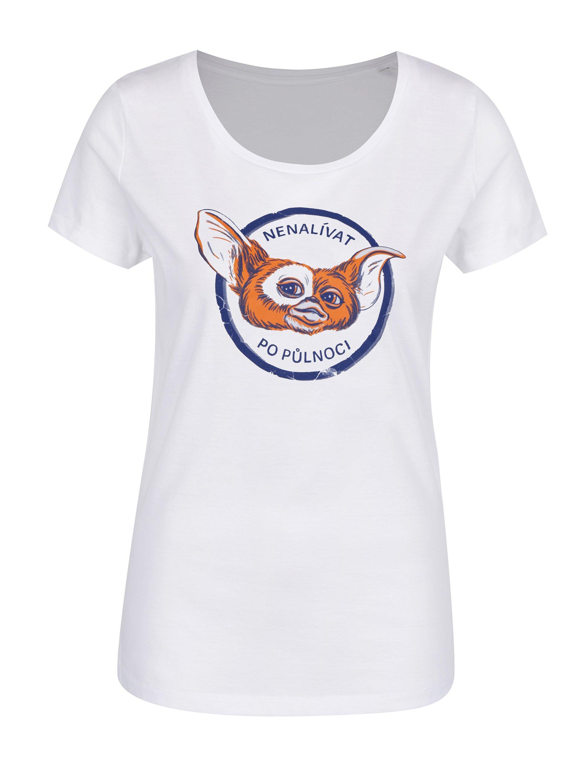 Fotografie Bílé dámské tričko s potiskem ZOOT Original Nenalívat