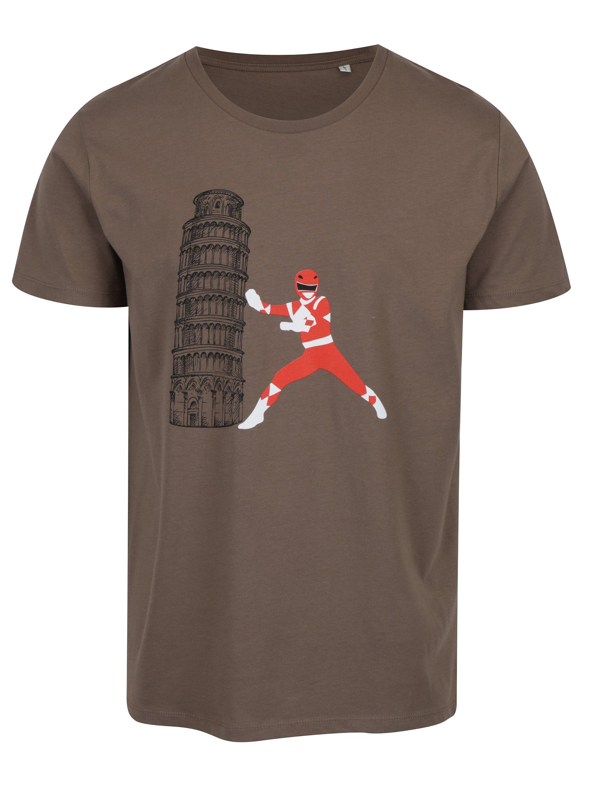 Hnědé pánské tričko ZOOT Original Powerranger