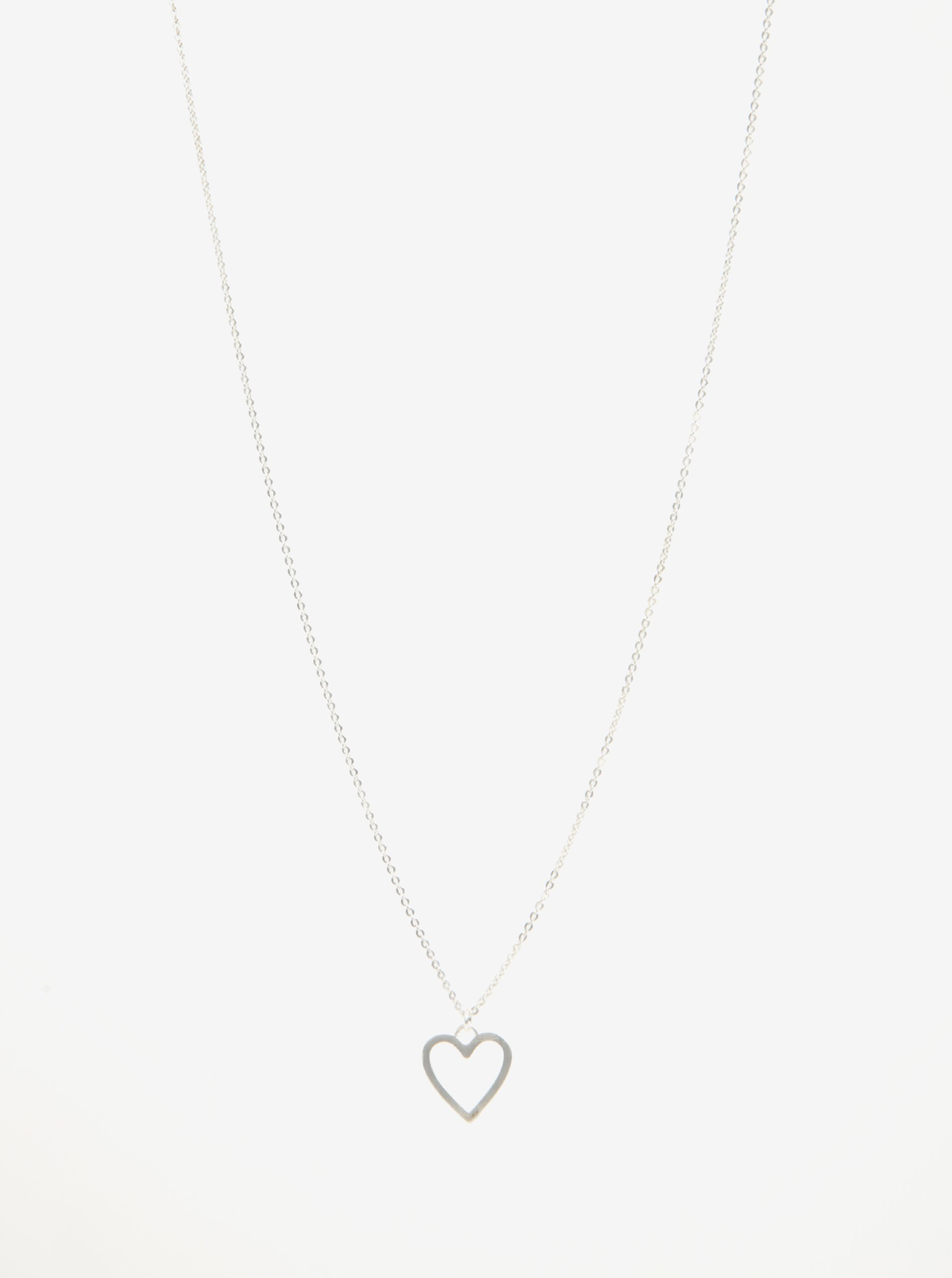 Postriebrená retiazka s príveskom v tvare srdca Pilgrim