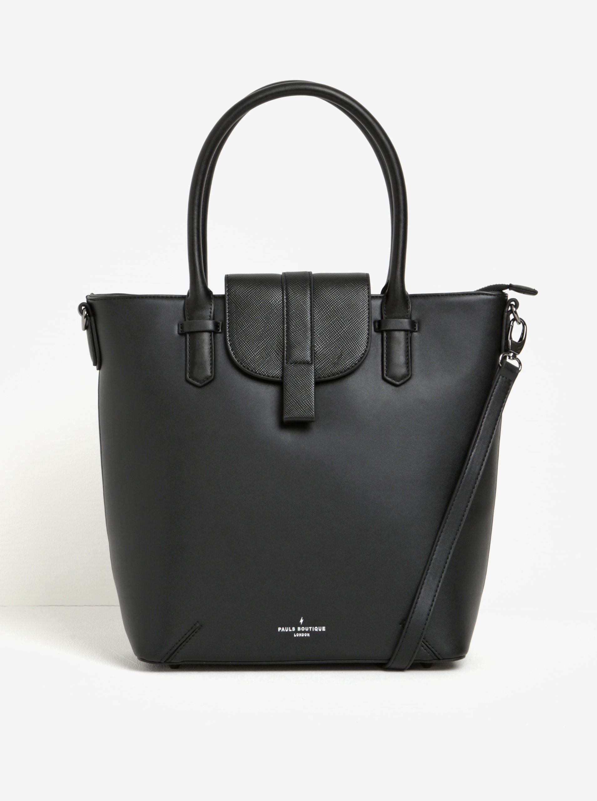 Černá velká kabelka s odnímatelným popruhem Paul's Boutique Tabby