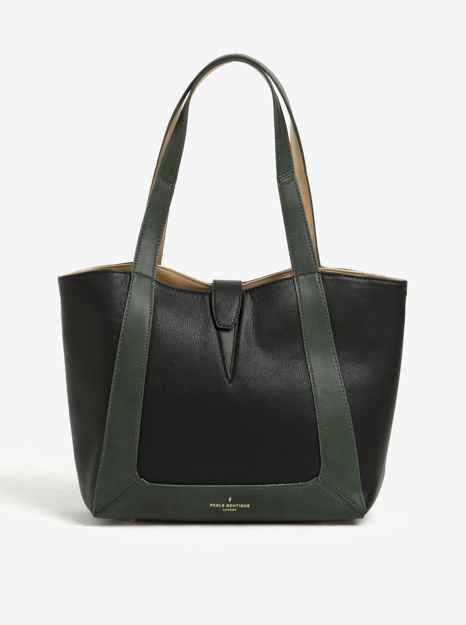 Zeleno-černá kabelka Paul's Boutique Ria